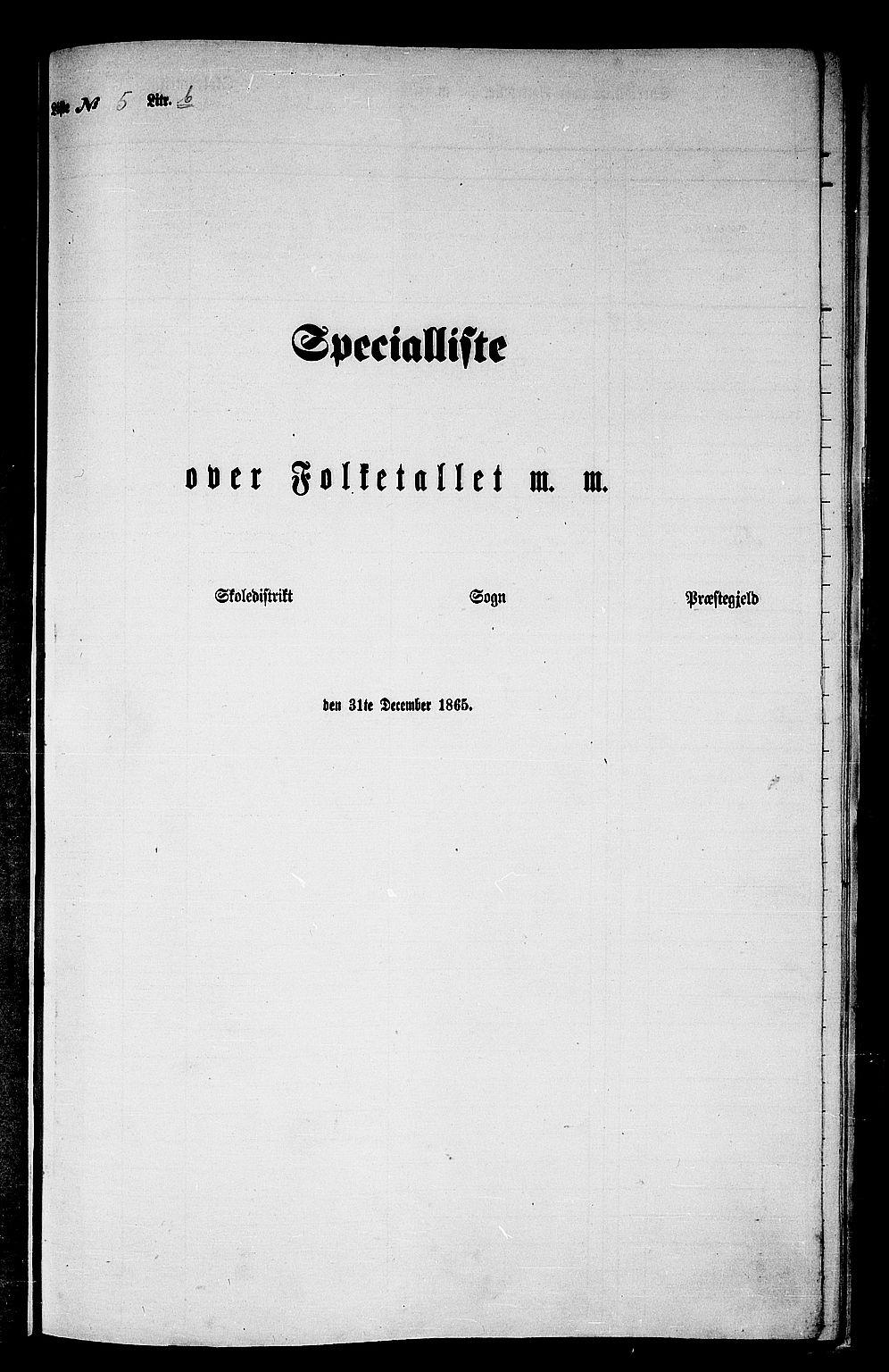 RA, Folketelling 1865 for 1543P Nesset prestegjeld, 1865, s. 109
