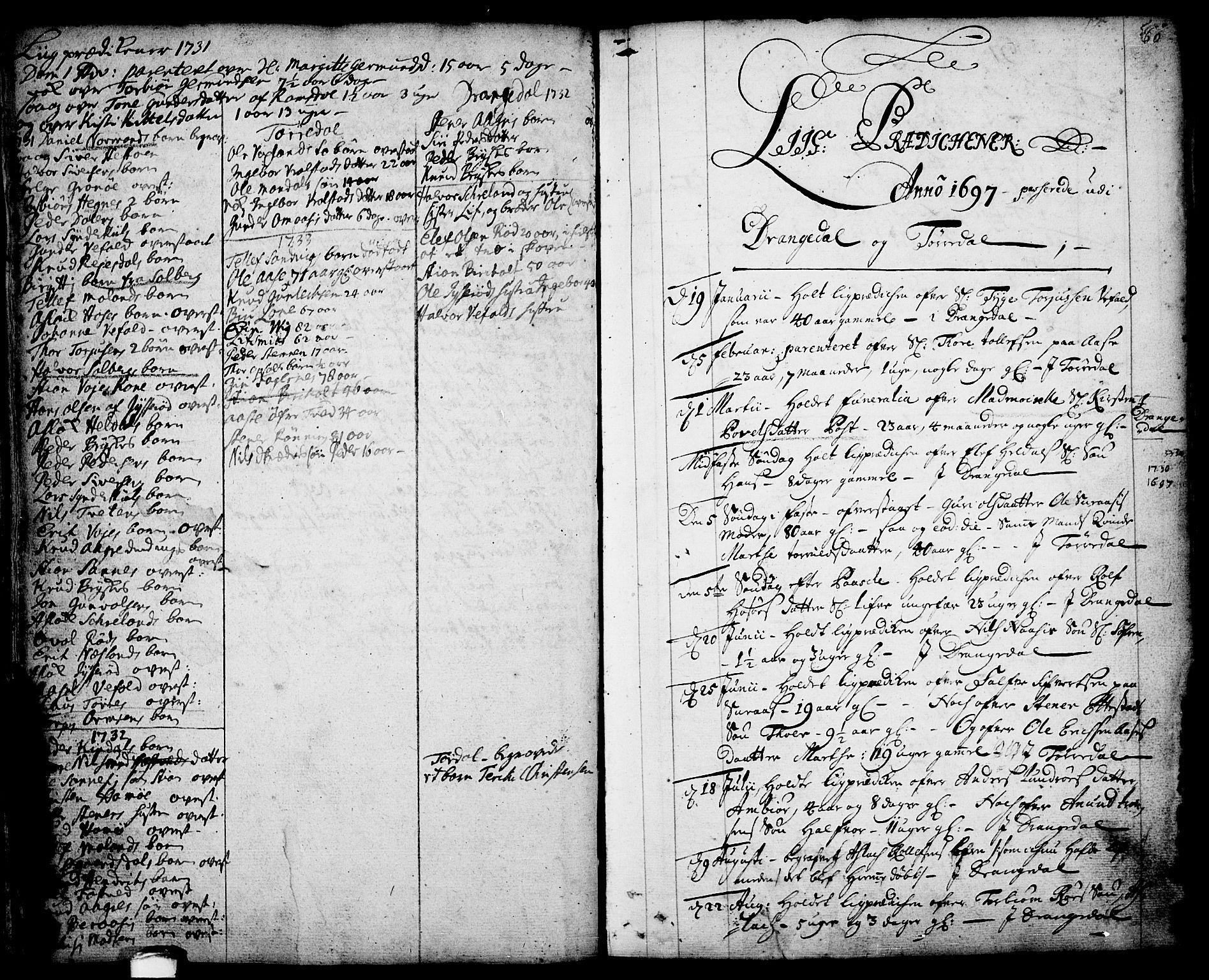 SAKO, Drangedal kirkebøker, F/Fa/L0001: Ministerialbok nr. 1, 1697-1767, s. 60