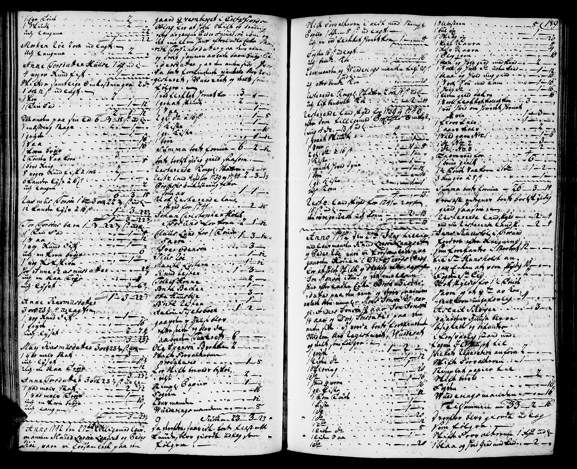 SAT, Romsdal sorenskriveri, 3/3A/L0007: Skifteprotokoll, 1740-1751, s. 188b-189a