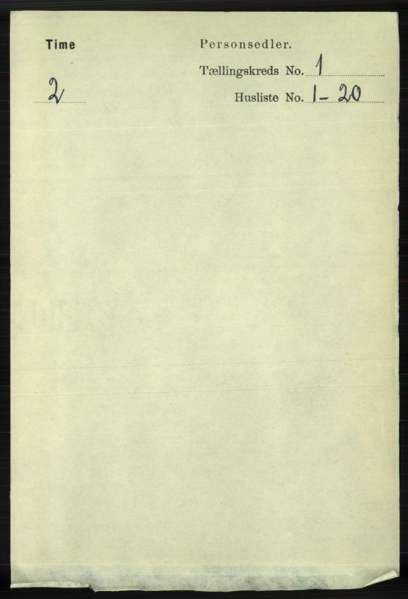 RA, Folketelling 1891 for 1121 Time herred, 1891, s. 104