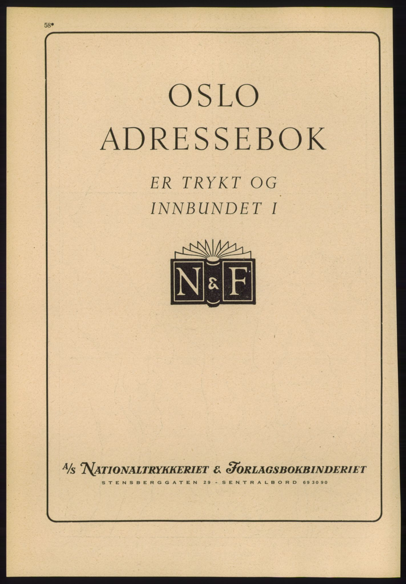 RA, Oslo adressebok (publikasjon)*, 1960-1961, s. 58