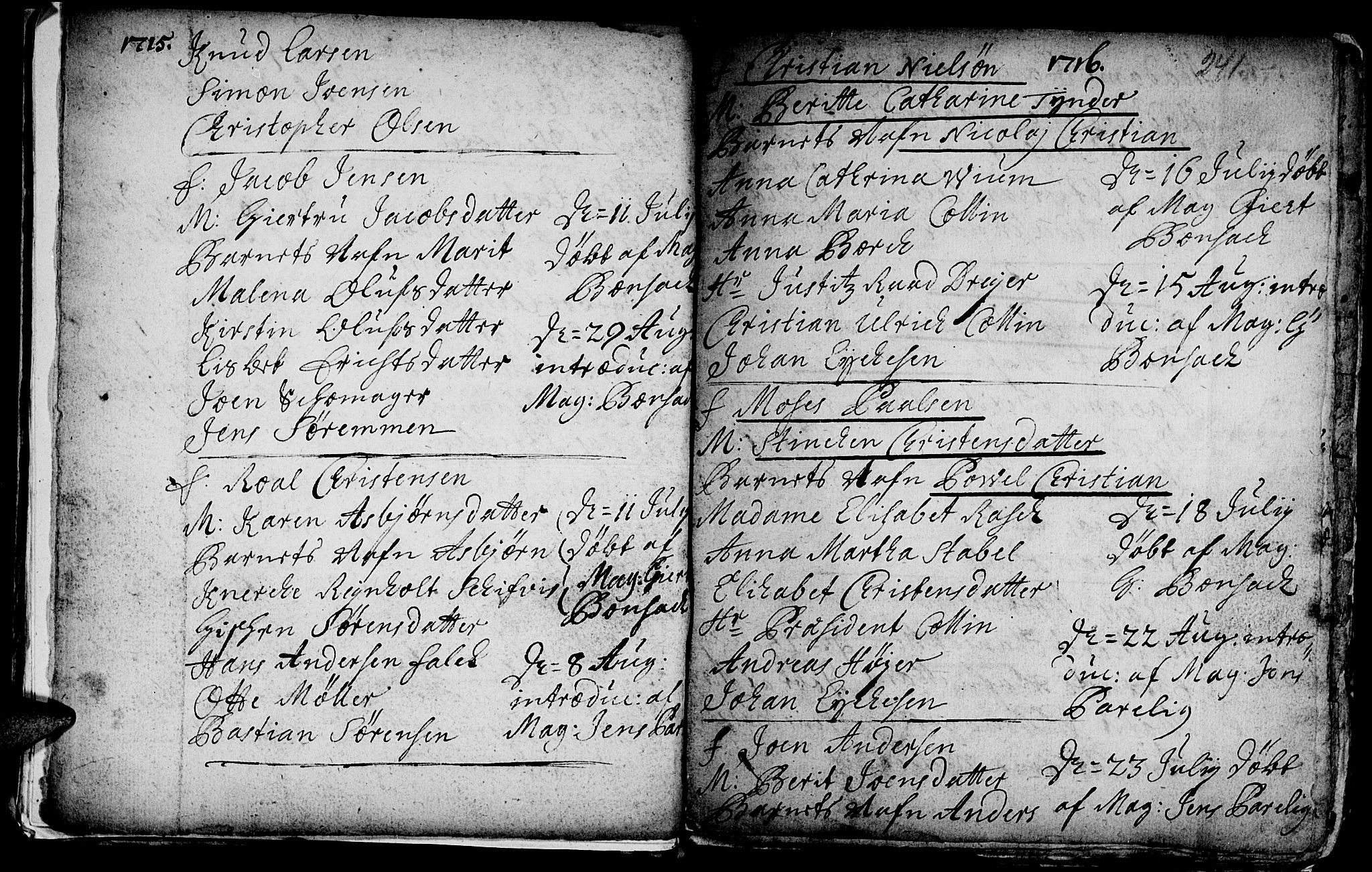 SAT, Ministerialprotokoller, klokkerbøker og fødselsregistre - Sør-Trøndelag, 601/L0035: Ministerialbok nr. 601A03, 1713-1728, s. 241