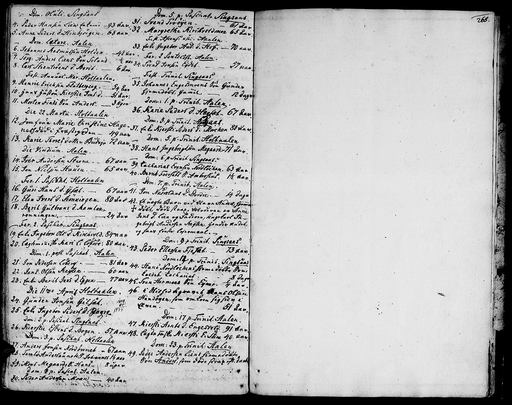 SAT, Ministerialprotokoller, klokkerbøker og fødselsregistre - Sør-Trøndelag, 685/L0952: Ministerialbok nr. 685A01, 1745-1804, s. 265