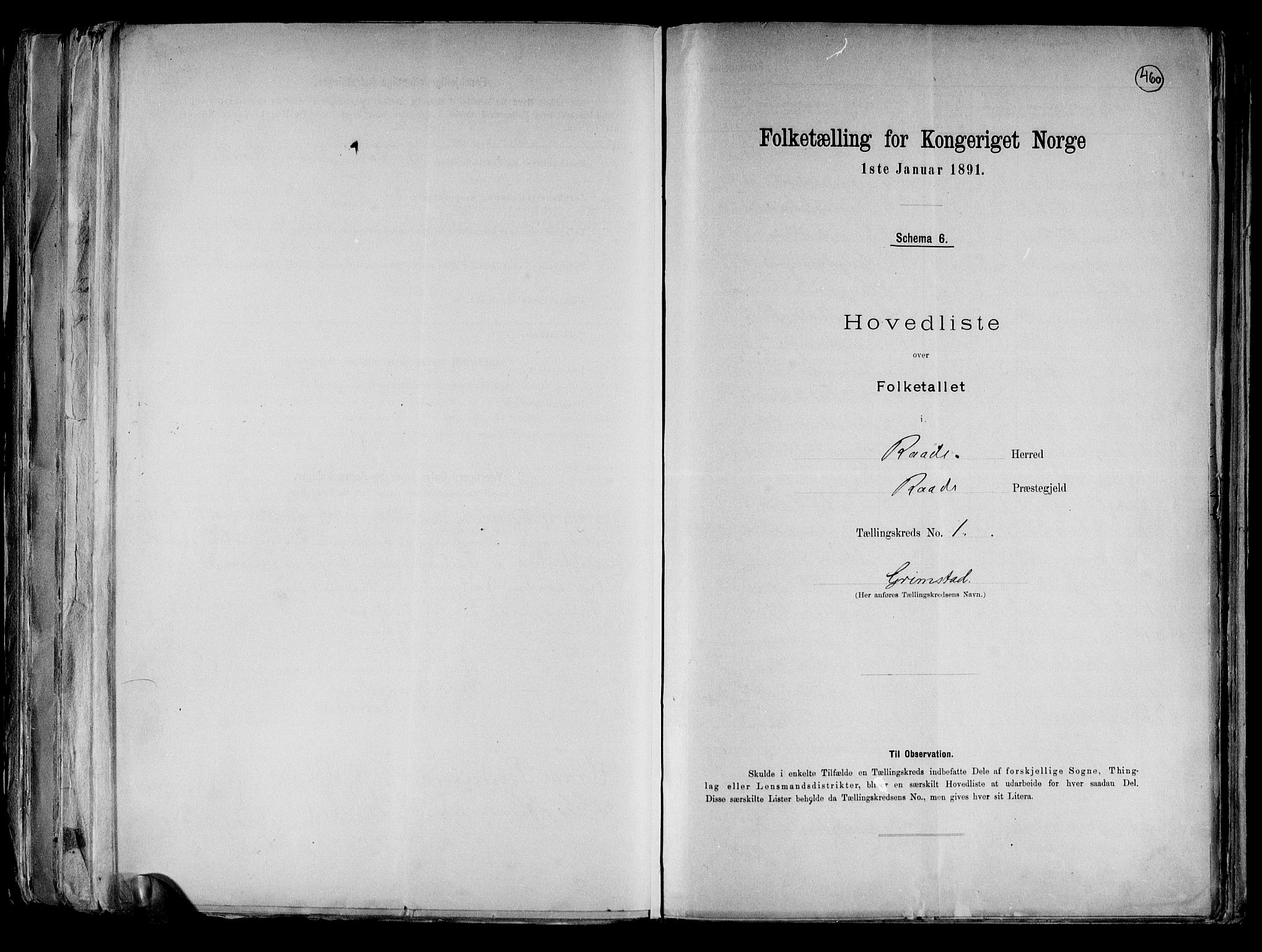 RA, Folketelling 1891 for 0135 Råde herred, 1891, s. 4