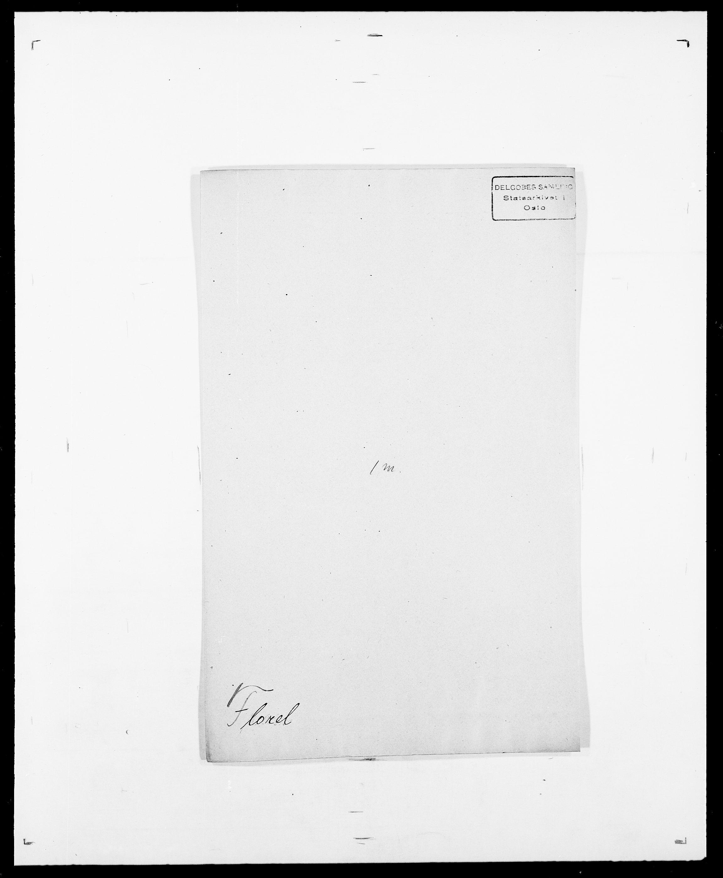 SAO, Delgobe, Charles Antoine - samling, D/Da/L0012: Flor, Floer, Flohr - Fritzner, s. 455