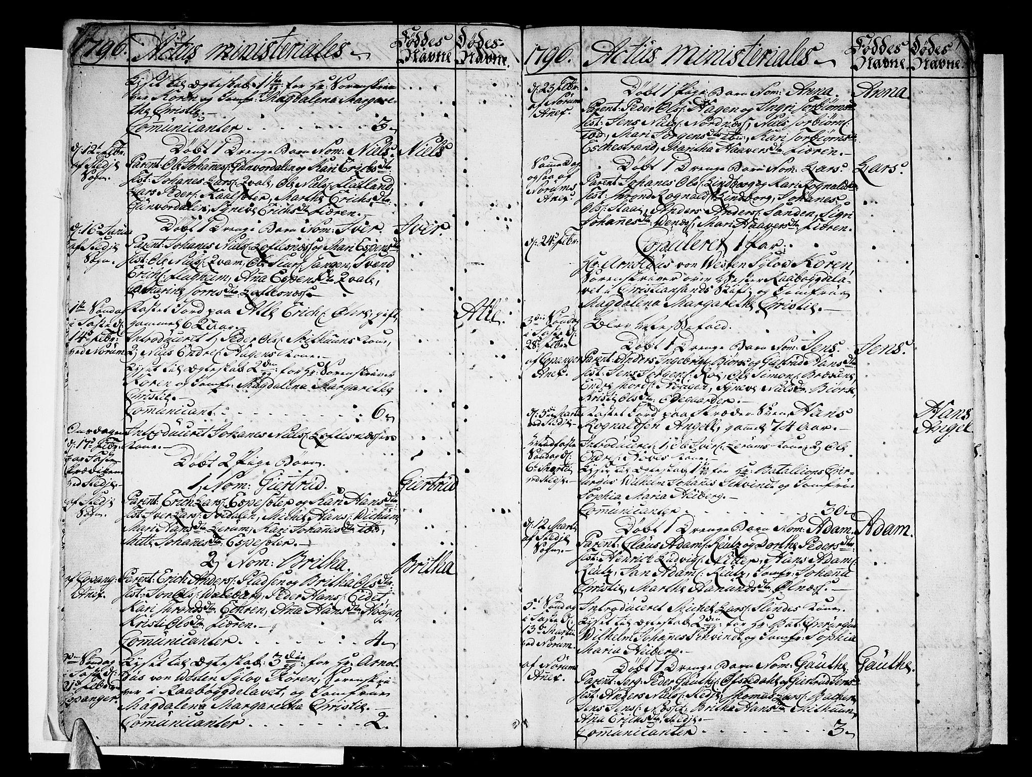 SAB, Sogndal Sokneprestembete, Ministerialbok nr. A 8, 1795-1809, s. 7