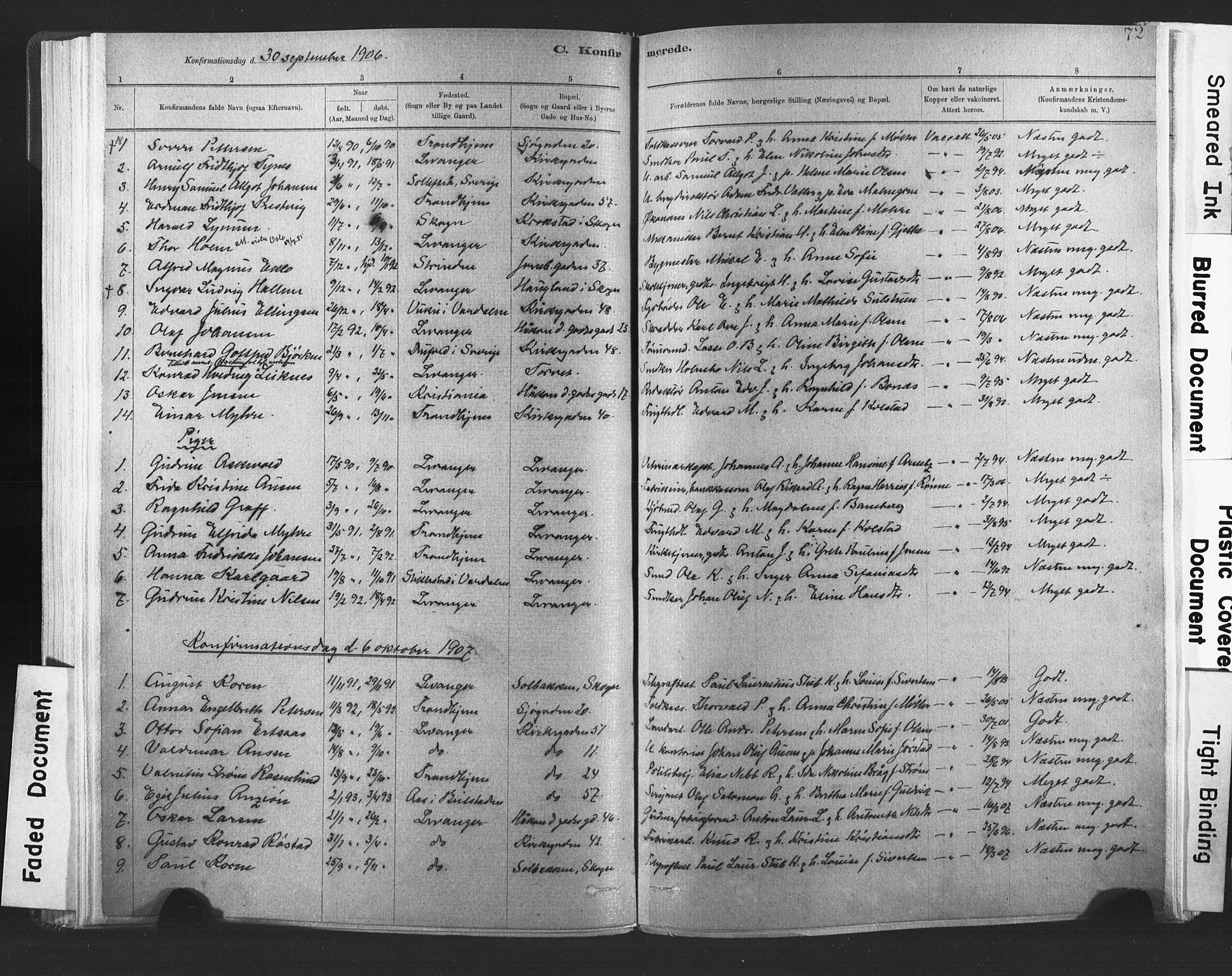 SAT, Ministerialprotokoller, klokkerbøker og fødselsregistre - Nord-Trøndelag, 720/L0189: Ministerialbok nr. 720A05, 1880-1911, s. 72