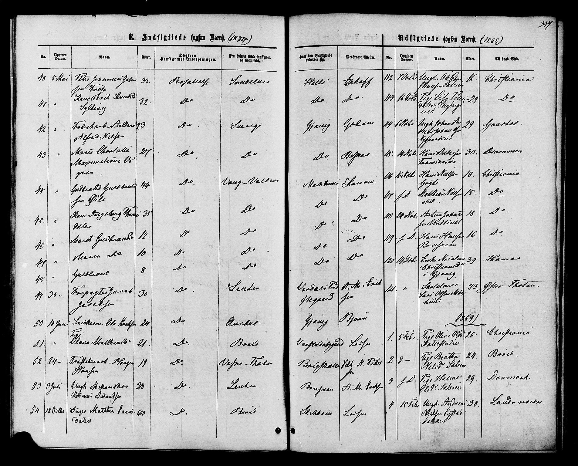 SAH, Vardal prestekontor, H/Ha/Haa/L0007: Ministerialbok nr. 7, 1867-1878, s. 347