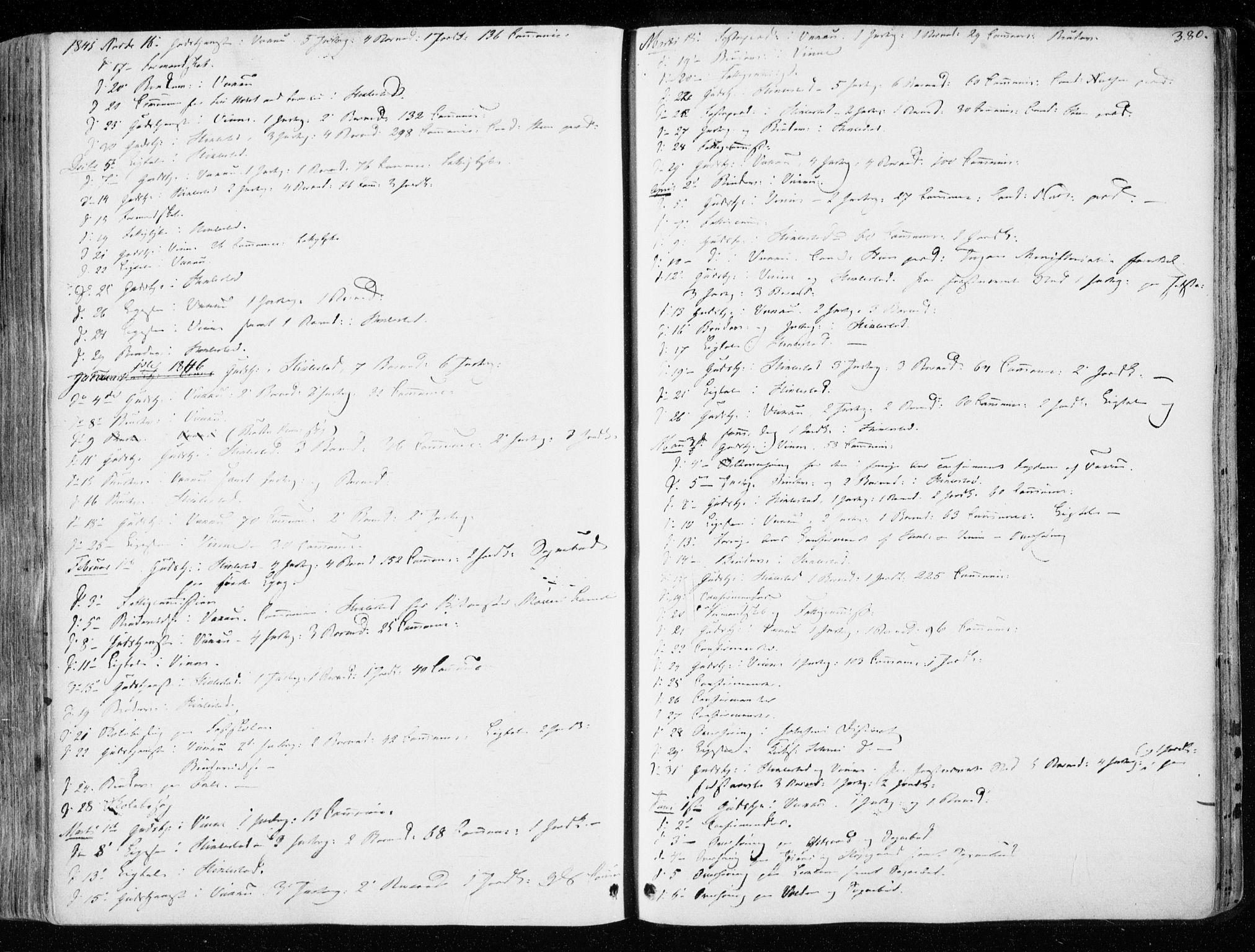 SAT, Ministerialprotokoller, klokkerbøker og fødselsregistre - Nord-Trøndelag, 723/L0239: Ministerialbok nr. 723A08, 1841-1851, s. 380