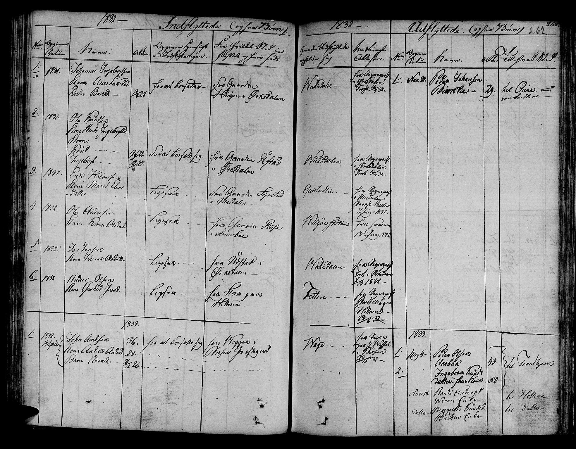 SAT, Ministerialprotokoller, klokkerbøker og fødselsregistre - Sør-Trøndelag, 630/L0492: Ministerialbok nr. 630A05, 1830-1840, s. 262