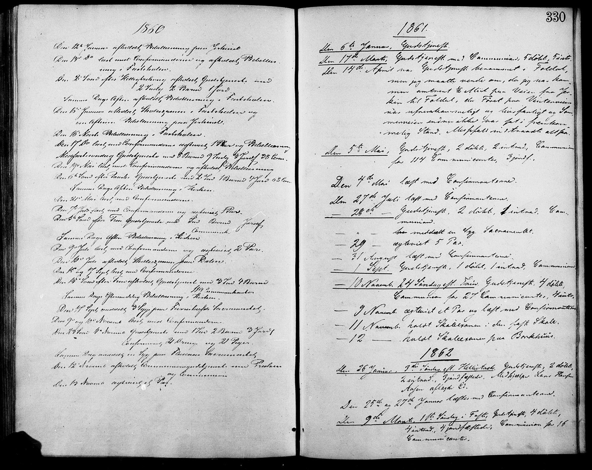 SAH, Lesja prestekontor, Ministerialbok nr. 7, 1854-1862, s. 330