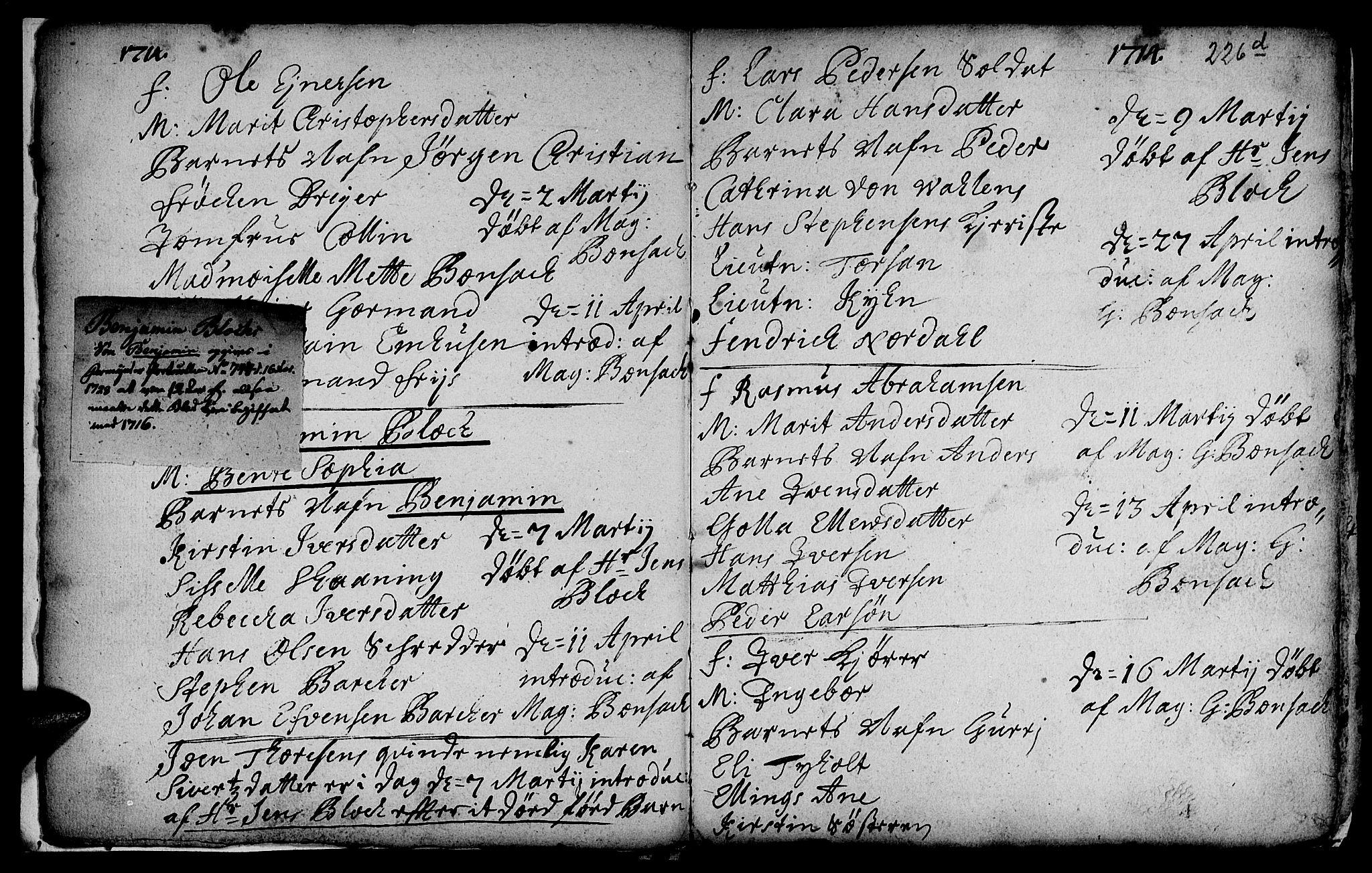 SAT, Ministerialprotokoller, klokkerbøker og fødselsregistre - Sør-Trøndelag, 601/L0035: Ministerialbok nr. 601A03, 1713-1728, s. 226f