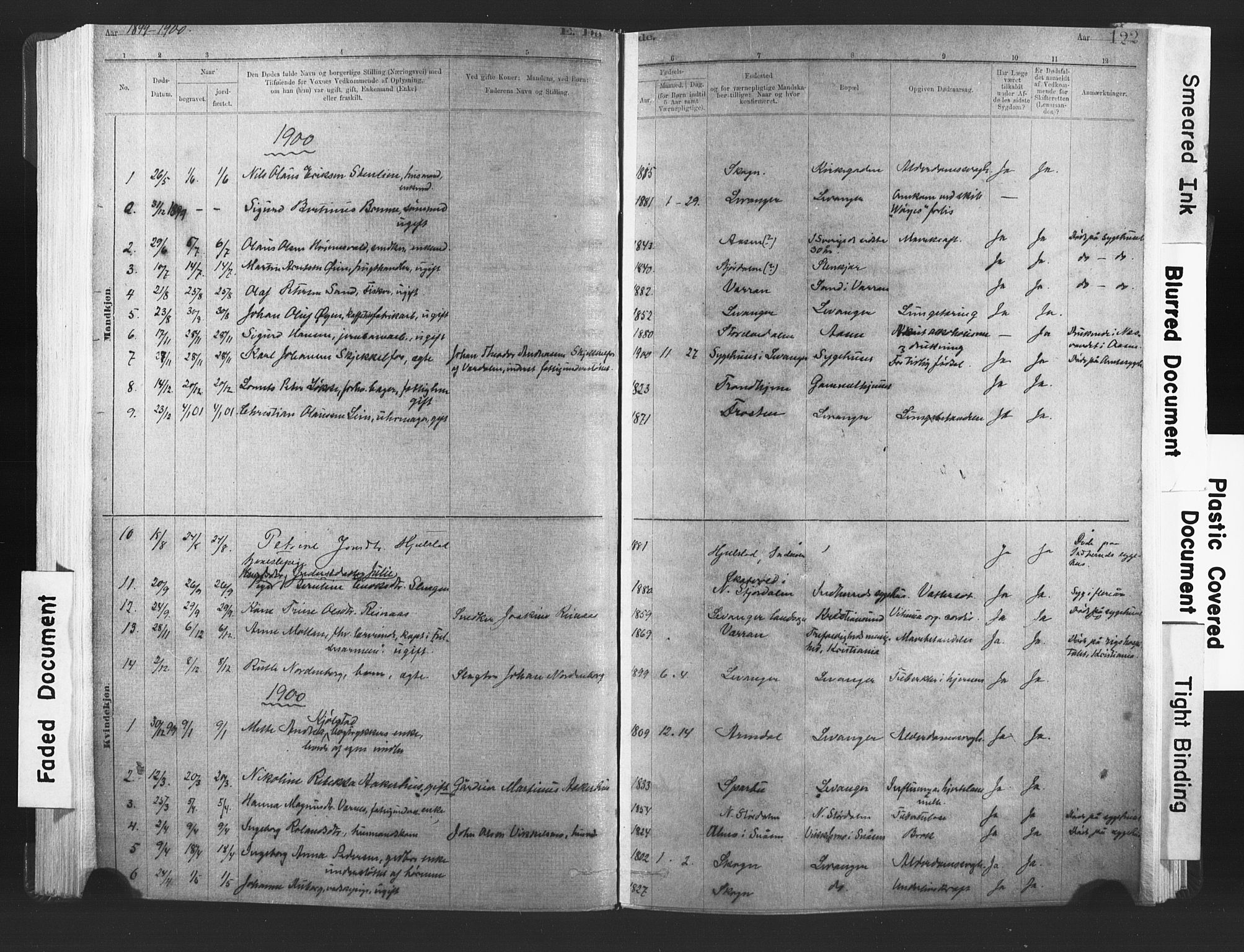 SAT, Ministerialprotokoller, klokkerbøker og fødselsregistre - Nord-Trøndelag, 720/L0189: Ministerialbok nr. 720A05, 1880-1911, s. 122