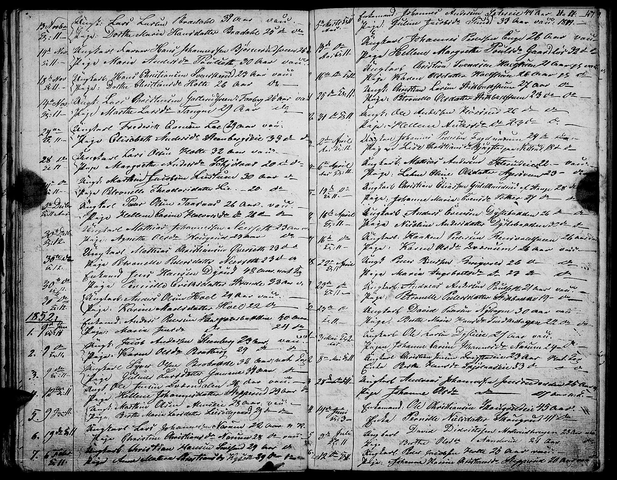 SAH, Vestre Toten prestekontor, Klokkerbok nr. 3, 1846-1854, s. 47