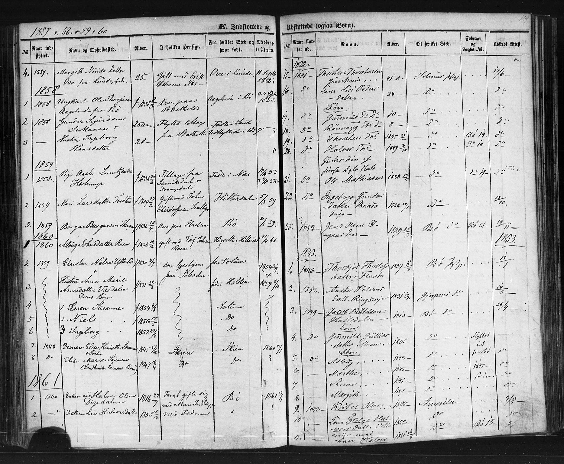 SAKO, Sauherad kirkebøker, F/Fb/L0001: Ministerialbok nr. II 1, 1851-1877, s. 189