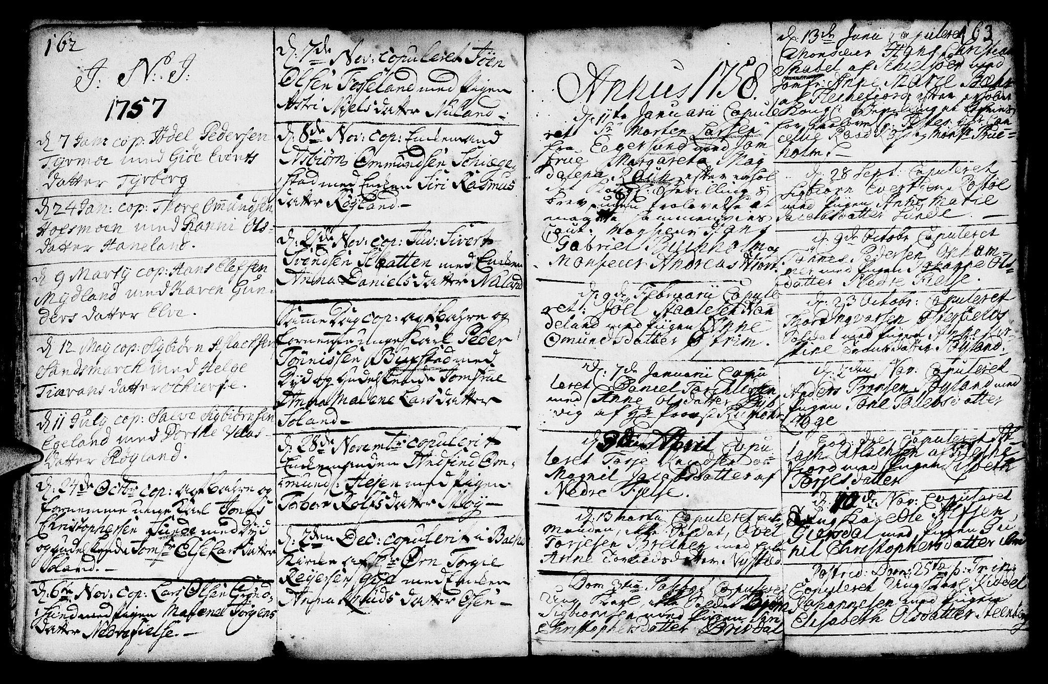 SAST, Lund sokneprestkontor, Ministerialbok nr. A 2, 1738-1760, s. 162-163