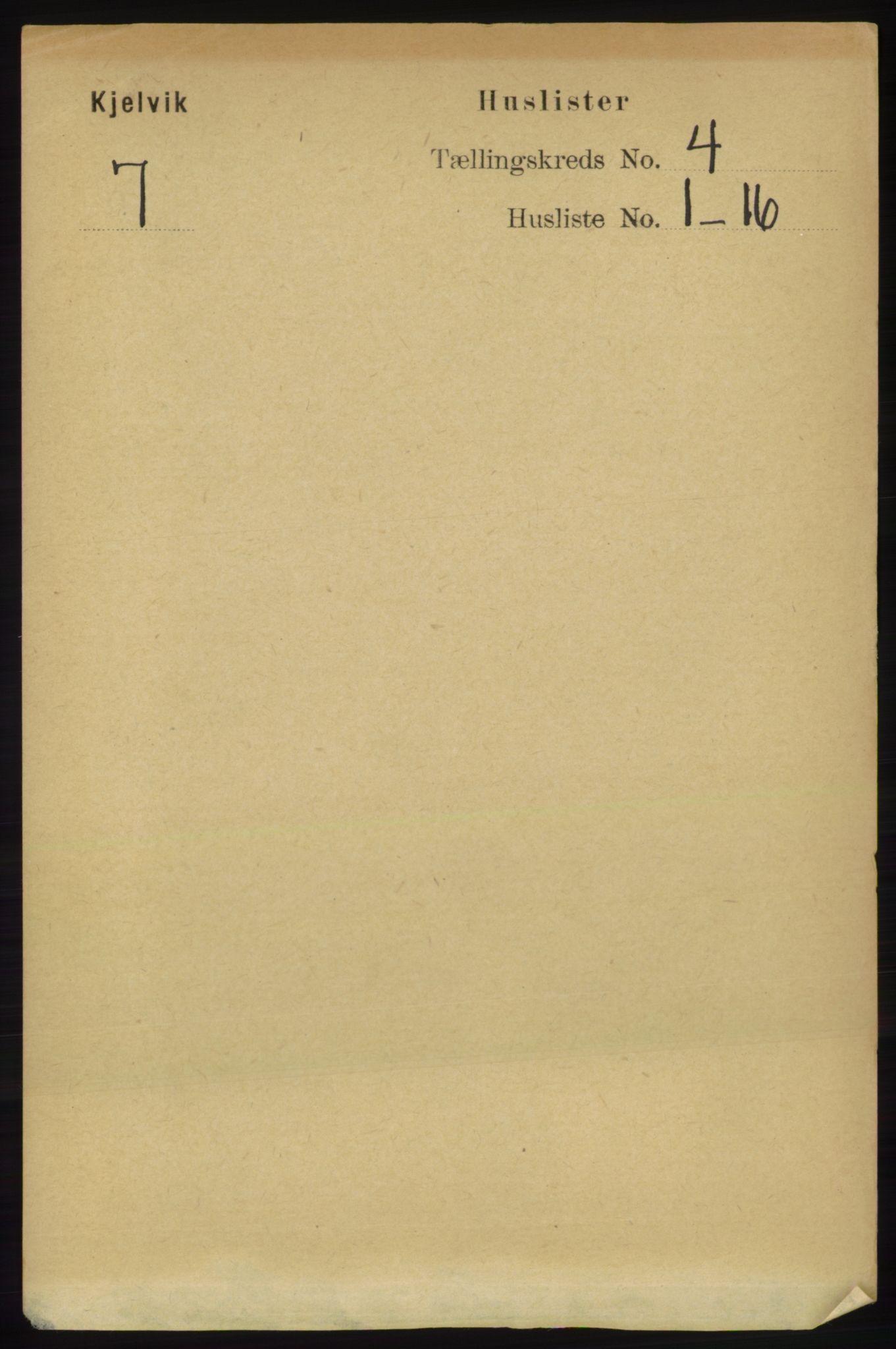 RA, Folketelling 1891 for 2019 Kjelvik herred, 1891, s. 406