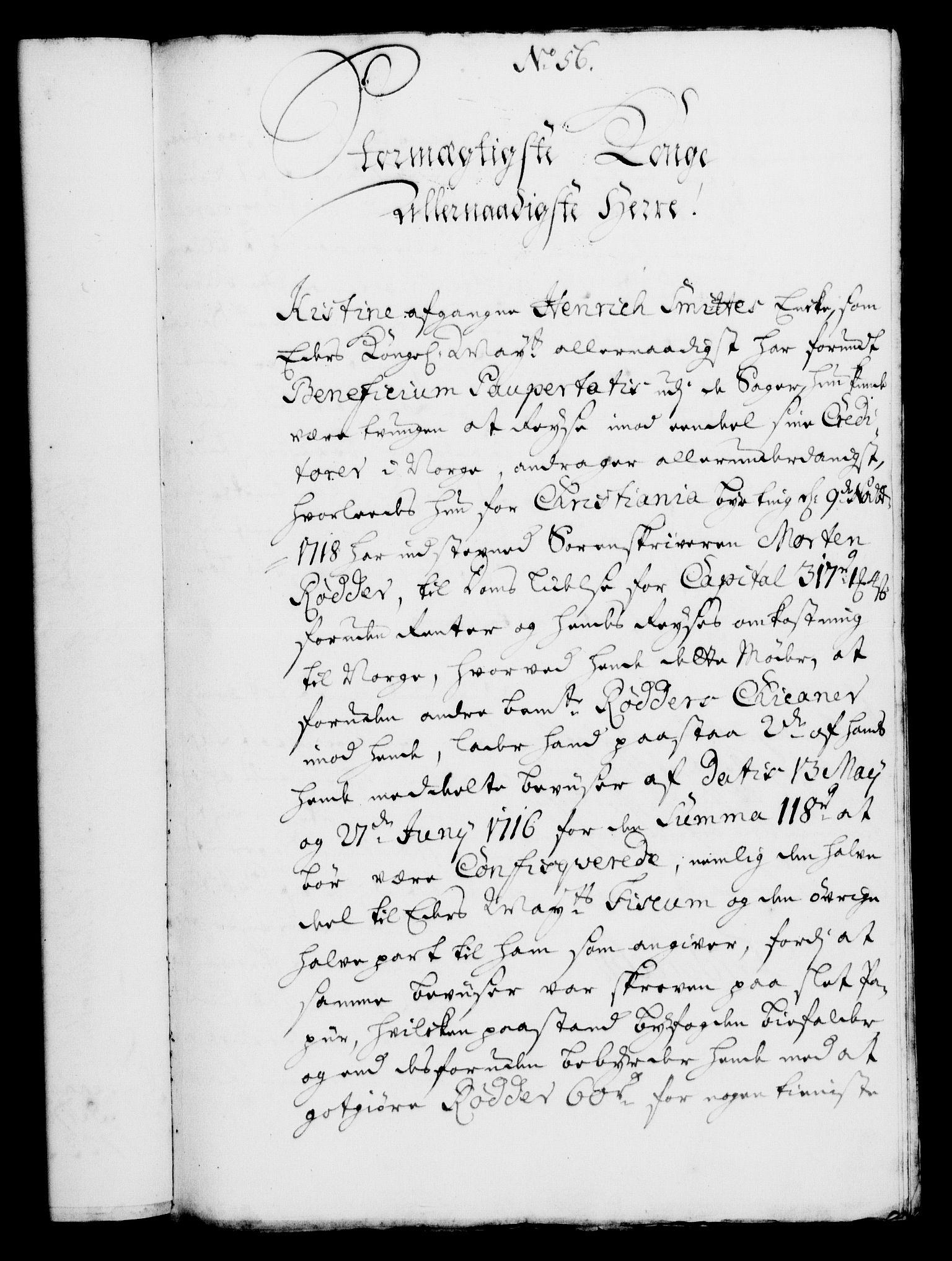 RA, Rentekammeret, Kammerkanselliet, G/Gf/Gfa/L0005: Norsk relasjons- og resolusjonsprotokoll (merket RK 52.5), 1722, s. 267