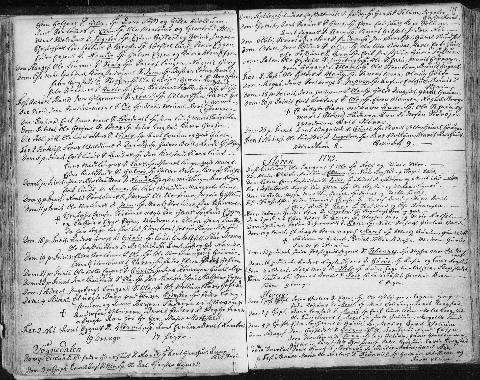 SAT, Ministerialprotokoller, klokkerbøker og fødselsregistre - Sør-Trøndelag, 687/L0991: Ministerialbok nr. 687A02, 1747-1790, s. 114