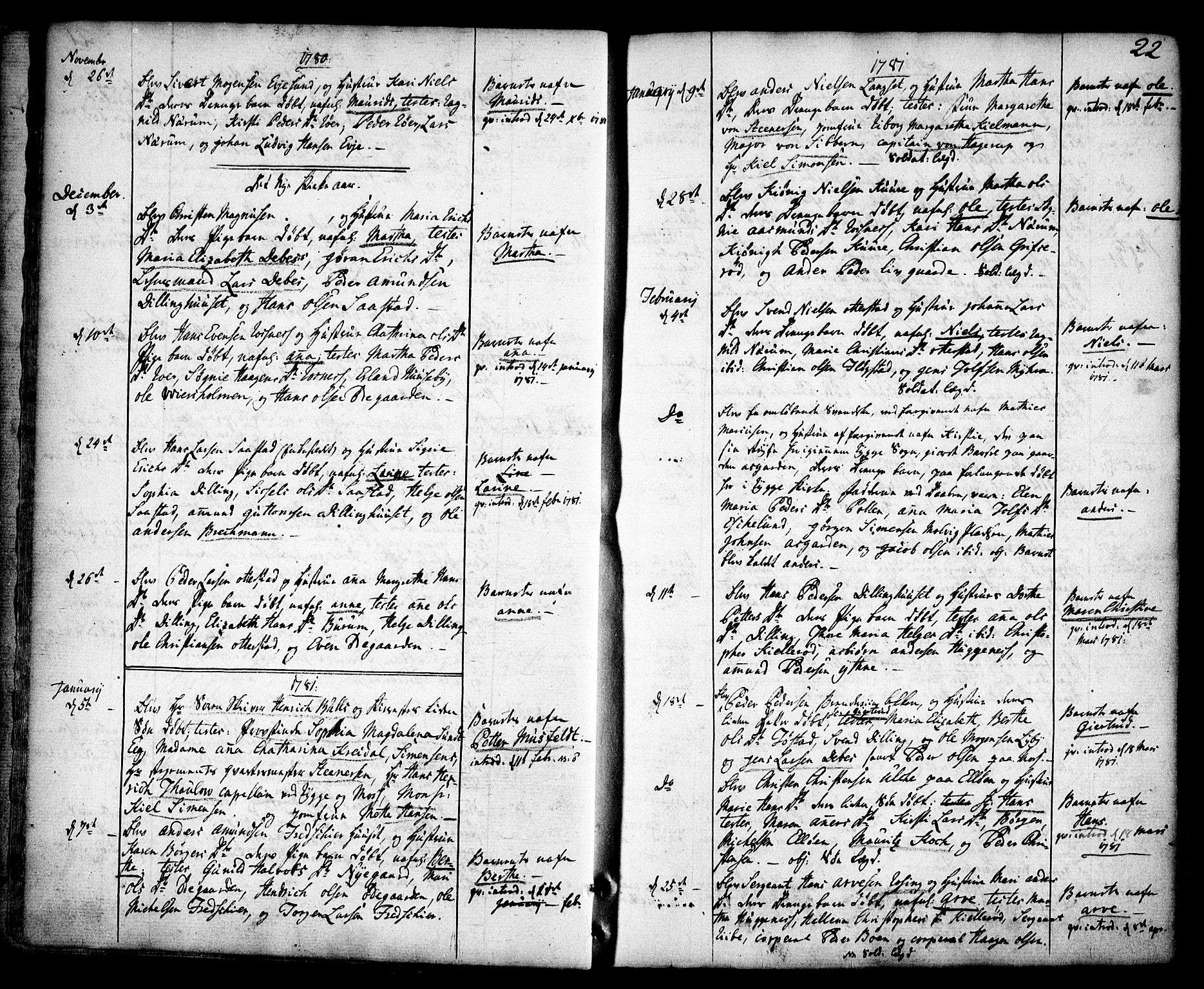 SAO, Rygge prestekontor Kirkebøker, F/Fa/L0002: Ministerialbok nr. 2, 1771-1814, s. 22