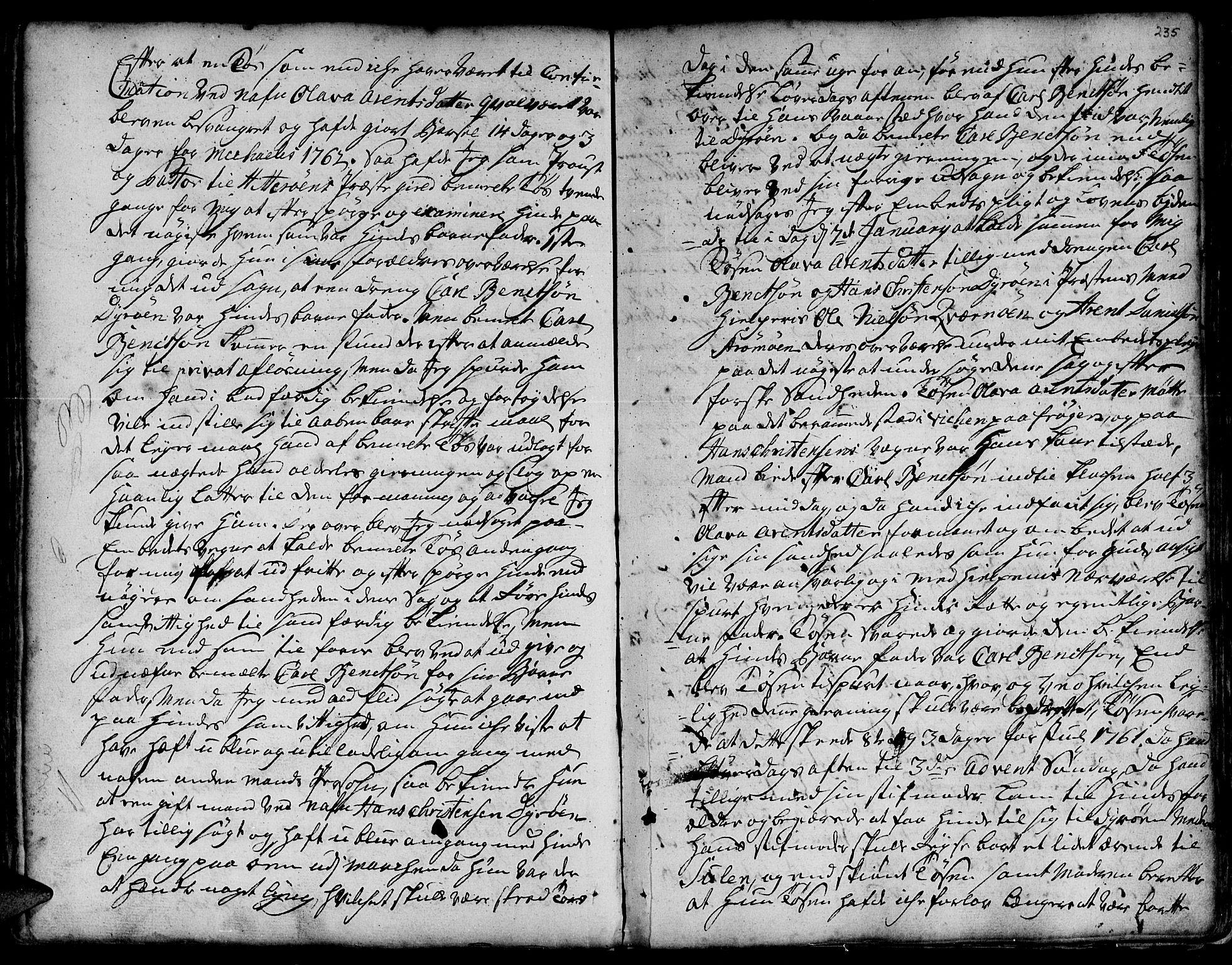 SAT, Ministerialprotokoller, klokkerbøker og fødselsregistre - Sør-Trøndelag, 634/L0525: Ministerialbok nr. 634A01, 1736-1775, s. 235