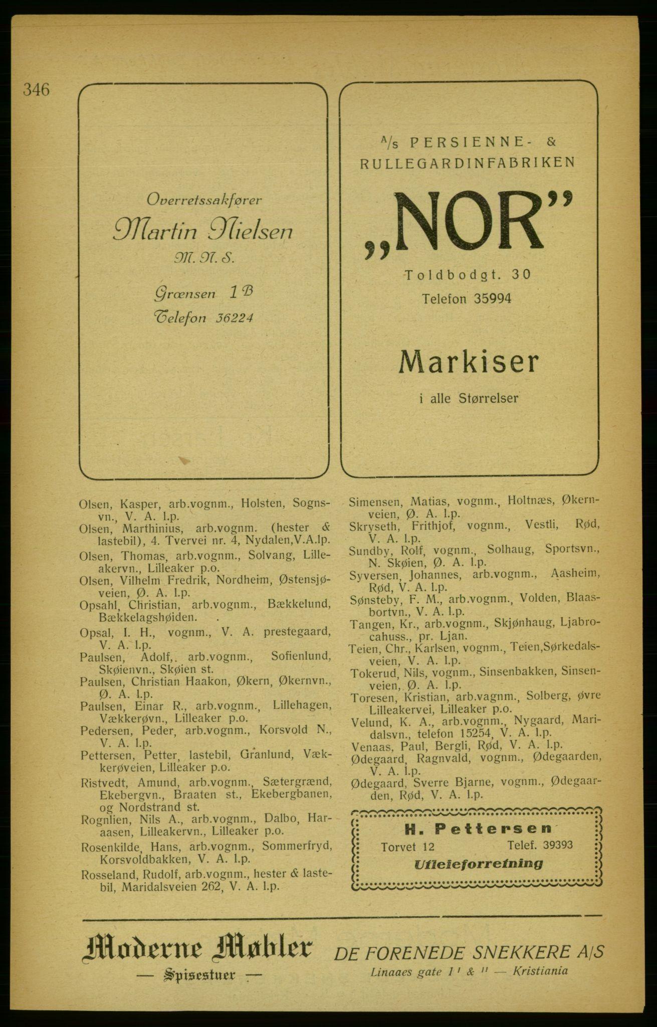 PUBL, Aker adressebok/adressekalender, 1922, s. 346