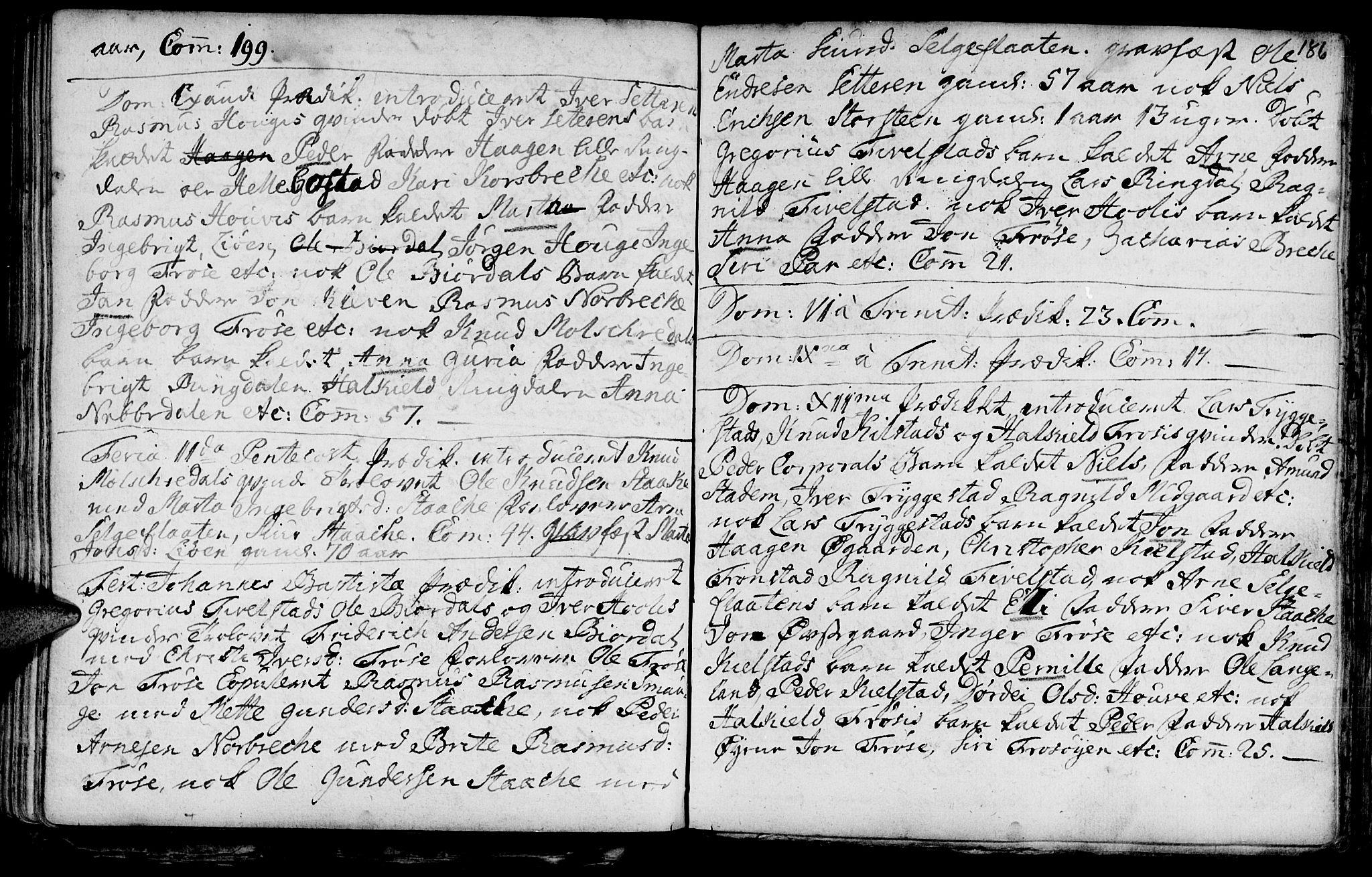 SAT, Ministerialprotokoller, klokkerbøker og fødselsregistre - Møre og Romsdal, 519/L0241: Ministerialbok nr. 519A01 /2, 1736-1760, s. 186