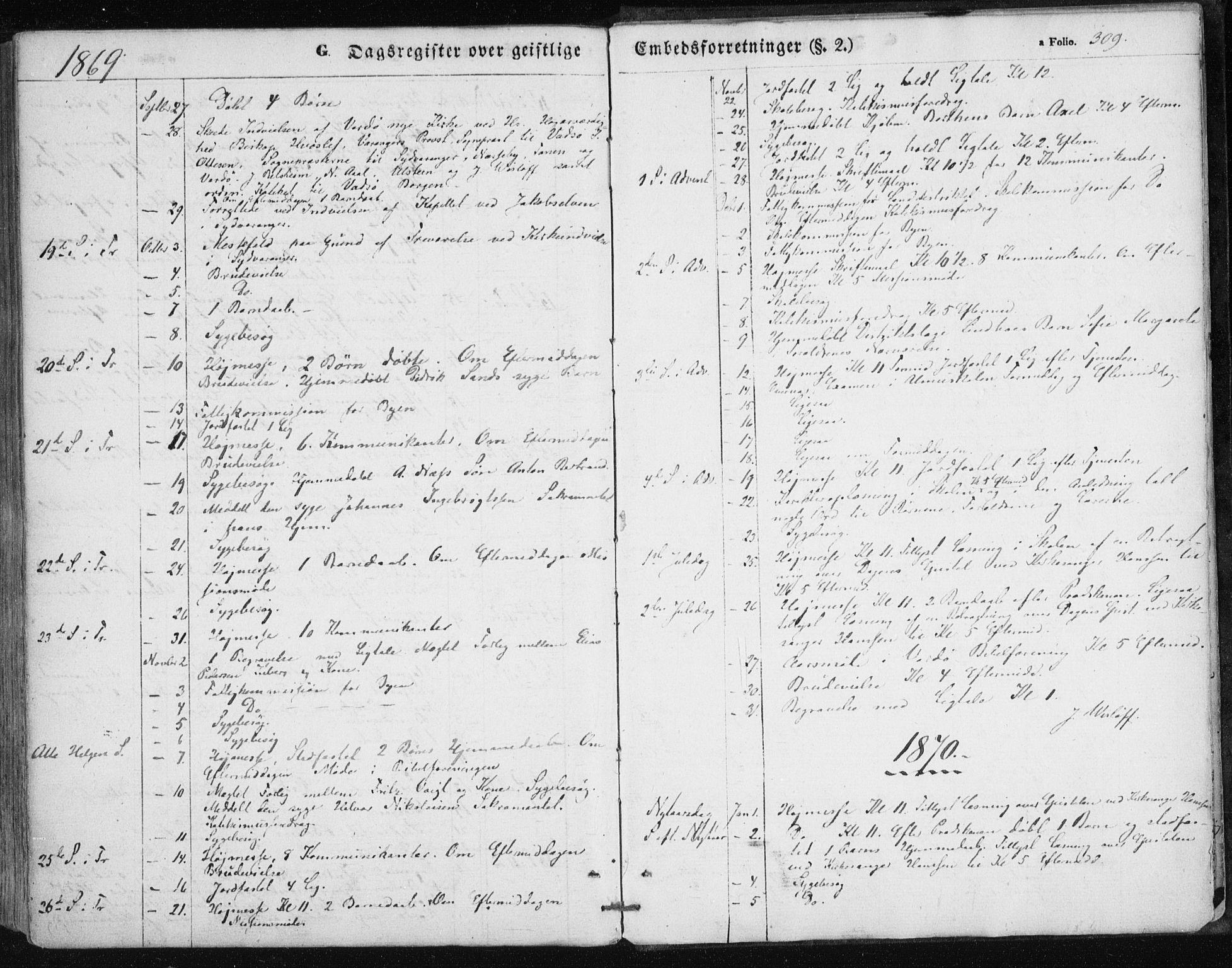 SATØ, Vardø sokneprestkontor, H/Ha/L0004kirke: Ministerialbok nr. 4, 1862-1871, s. 309