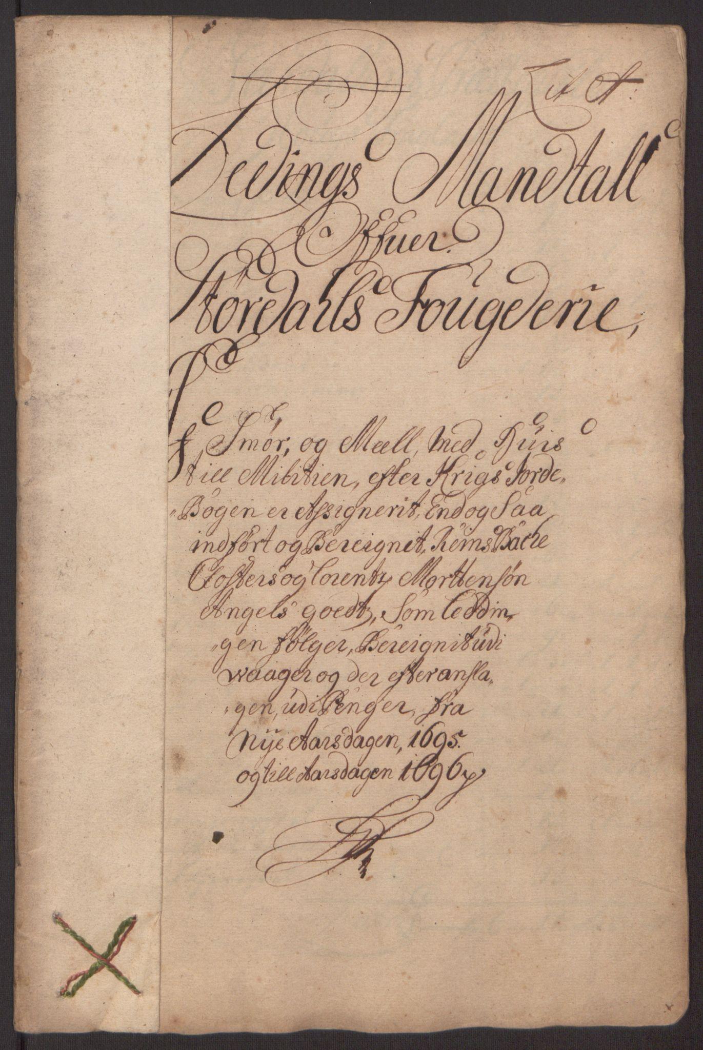 RA, Rentekammeret inntil 1814, Reviderte regnskaper, Fogderegnskap, R62/L4187: Fogderegnskap Stjørdal og Verdal, 1695, s. 24
