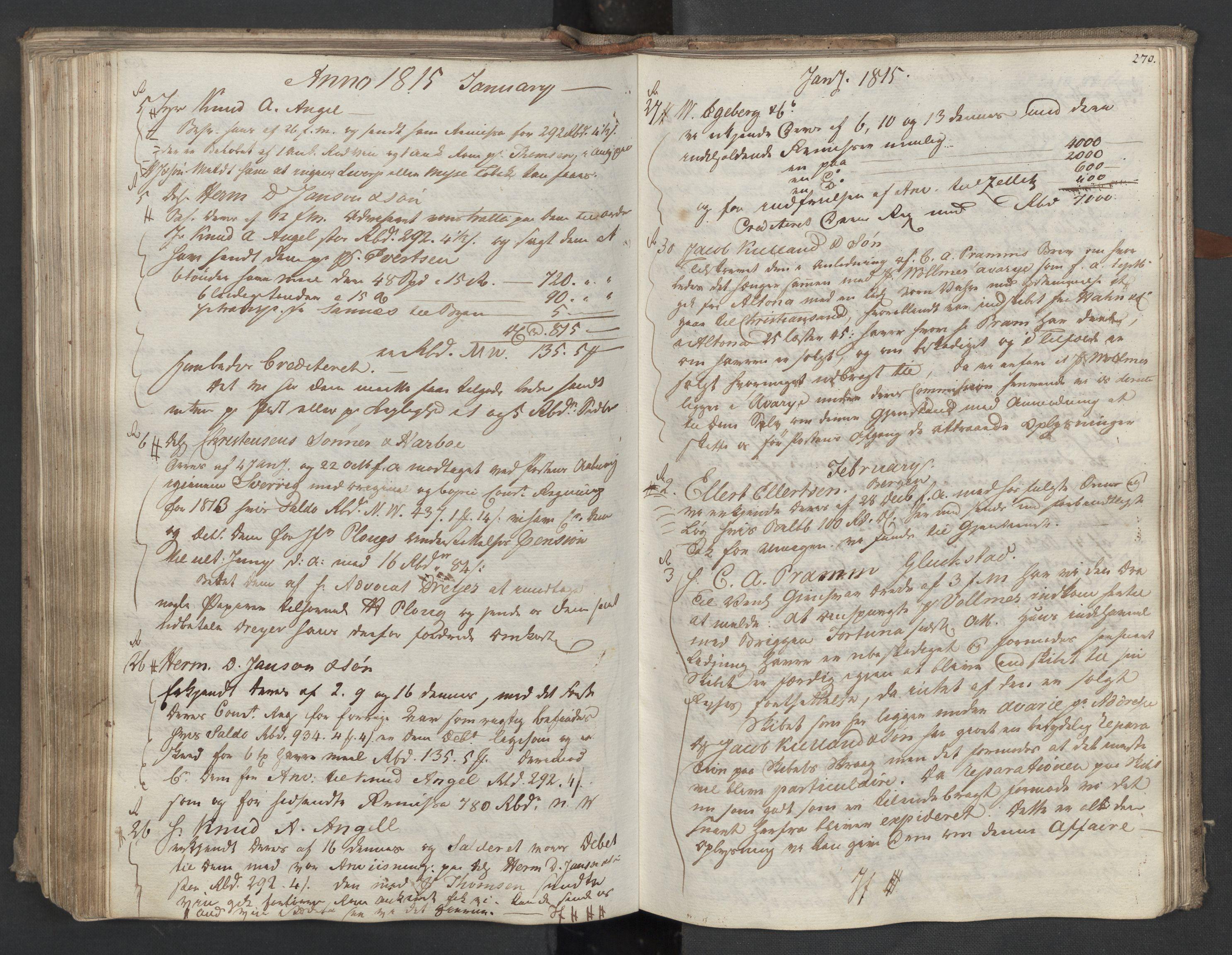 SAST, Pa 0003 - Ploug & Sundt, handelshuset, B/L0009: Kopibok, 1805-1816, s. 269b-270a