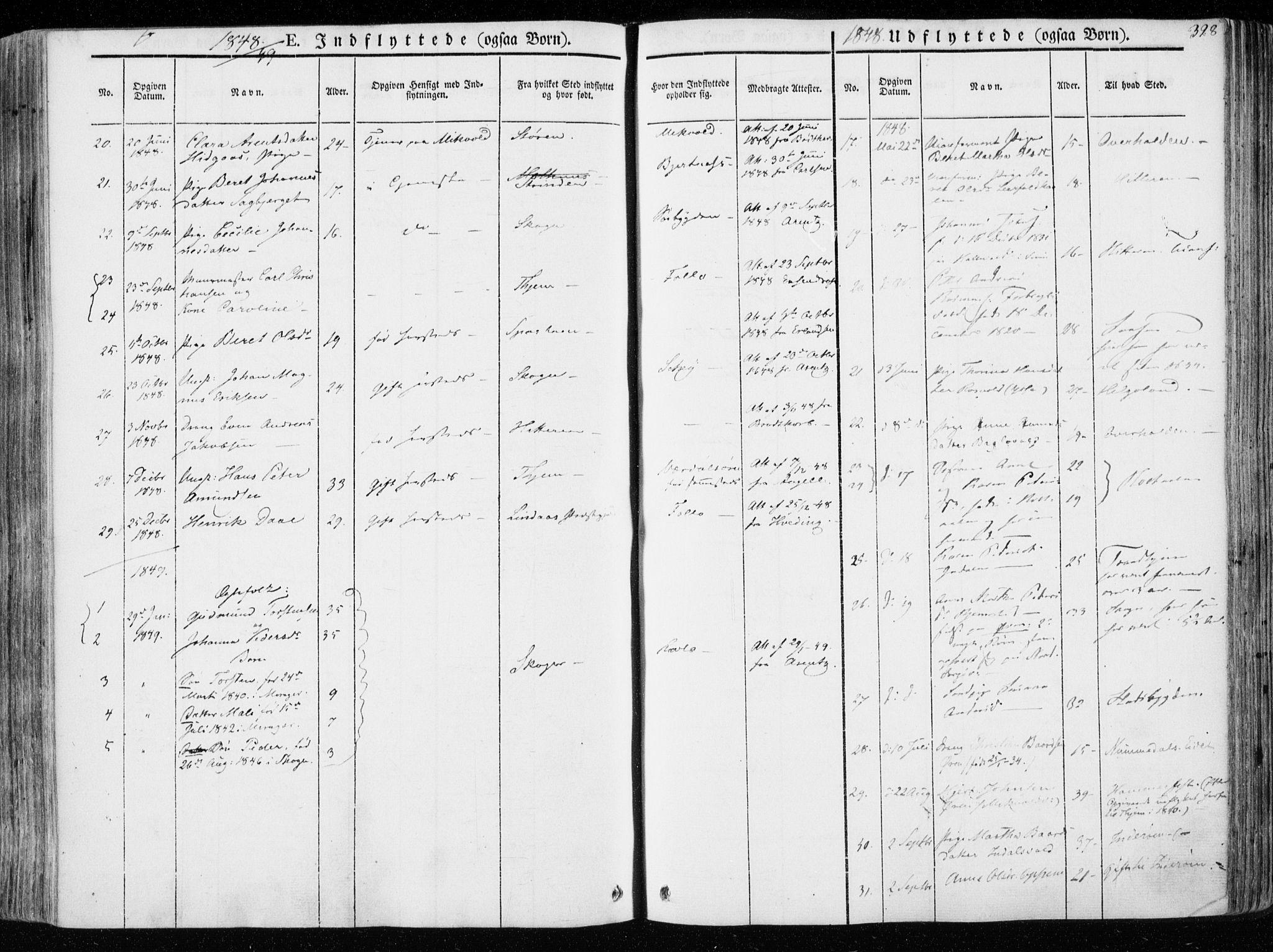 SAT, Ministerialprotokoller, klokkerbøker og fødselsregistre - Nord-Trøndelag, 723/L0239: Ministerialbok nr. 723A08, 1841-1851, s. 328