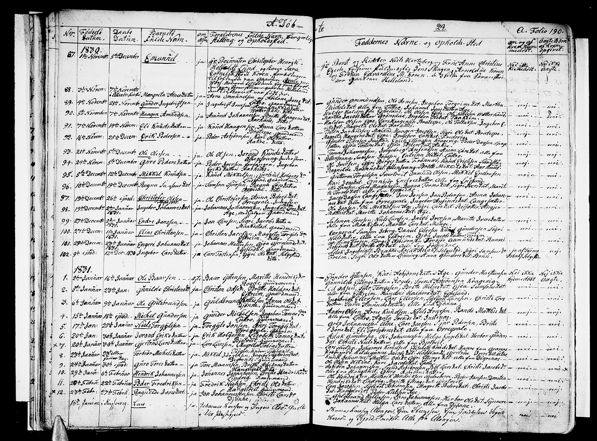 SAB, Ullensvang Sokneprestembete, H/Haa: Ministerialbok nr. A 10, 1825-1853, s. 24