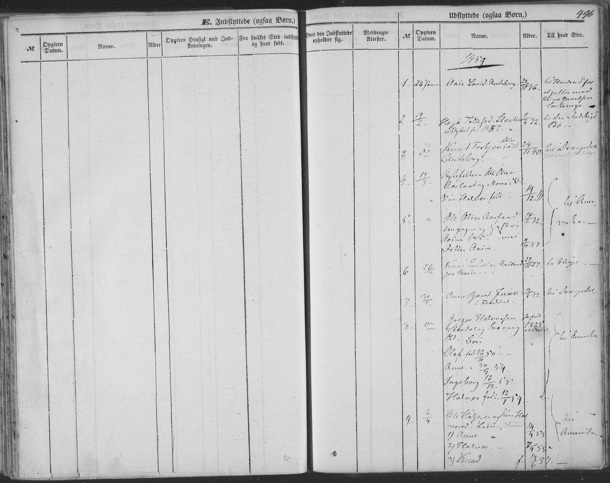 SAKO, Seljord kirkebøker, F/Fa/L012b: Ministerialbok nr. I 12B, 1850-1865, s. 496