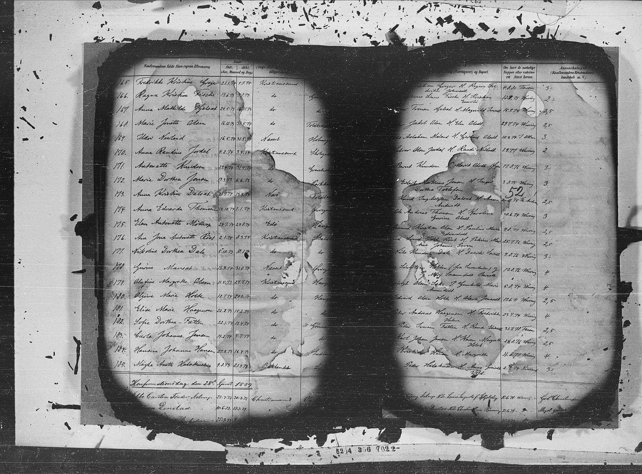 SAT, Ministerialprotokoller, klokkerbøker og fødselsregistre - Møre og Romsdal, 572/L0852: Ministerialbok nr. 572A15, 1880-1900, s. 52