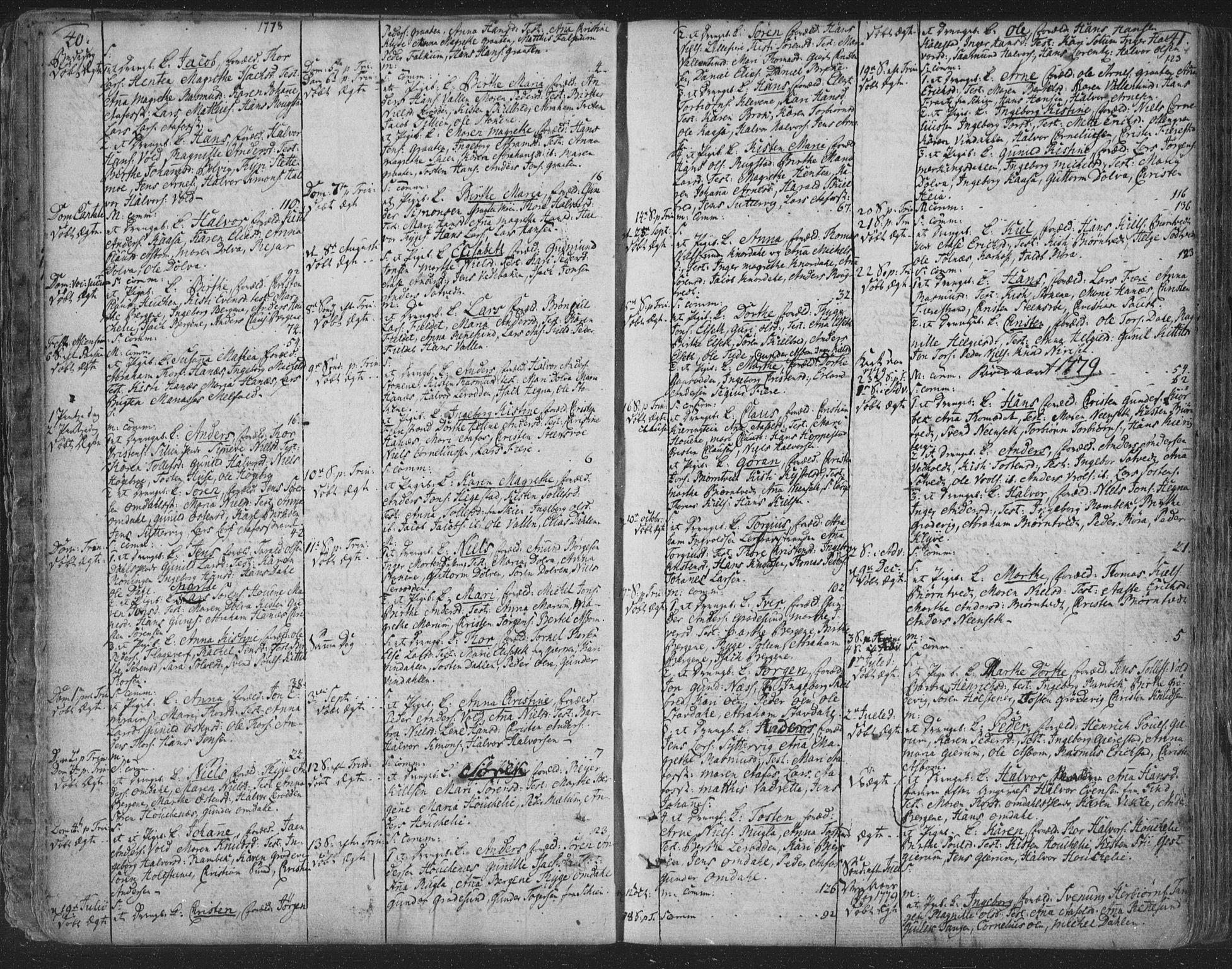 SAKO, Solum kirkebøker, F/Fa/L0003: Ministerialbok nr. I 3, 1761-1814, s. 40-41