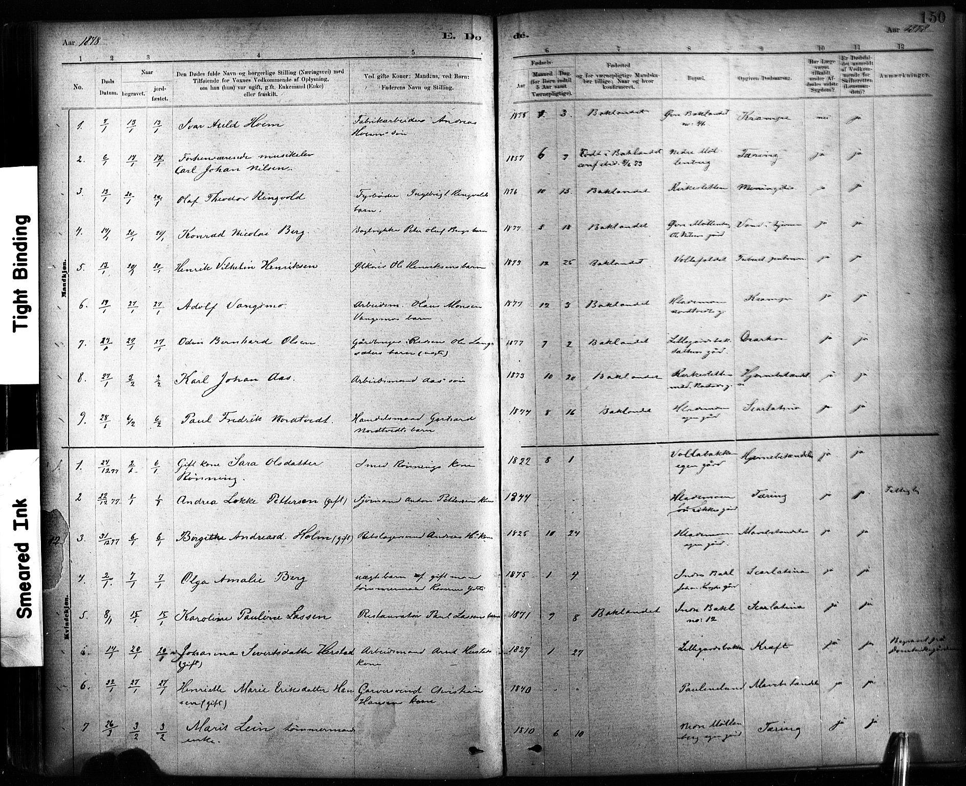 SAT, Ministerialprotokoller, klokkerbøker og fødselsregistre - Sør-Trøndelag, 604/L0189: Ministerialbok nr. 604A10, 1878-1892, s. 150