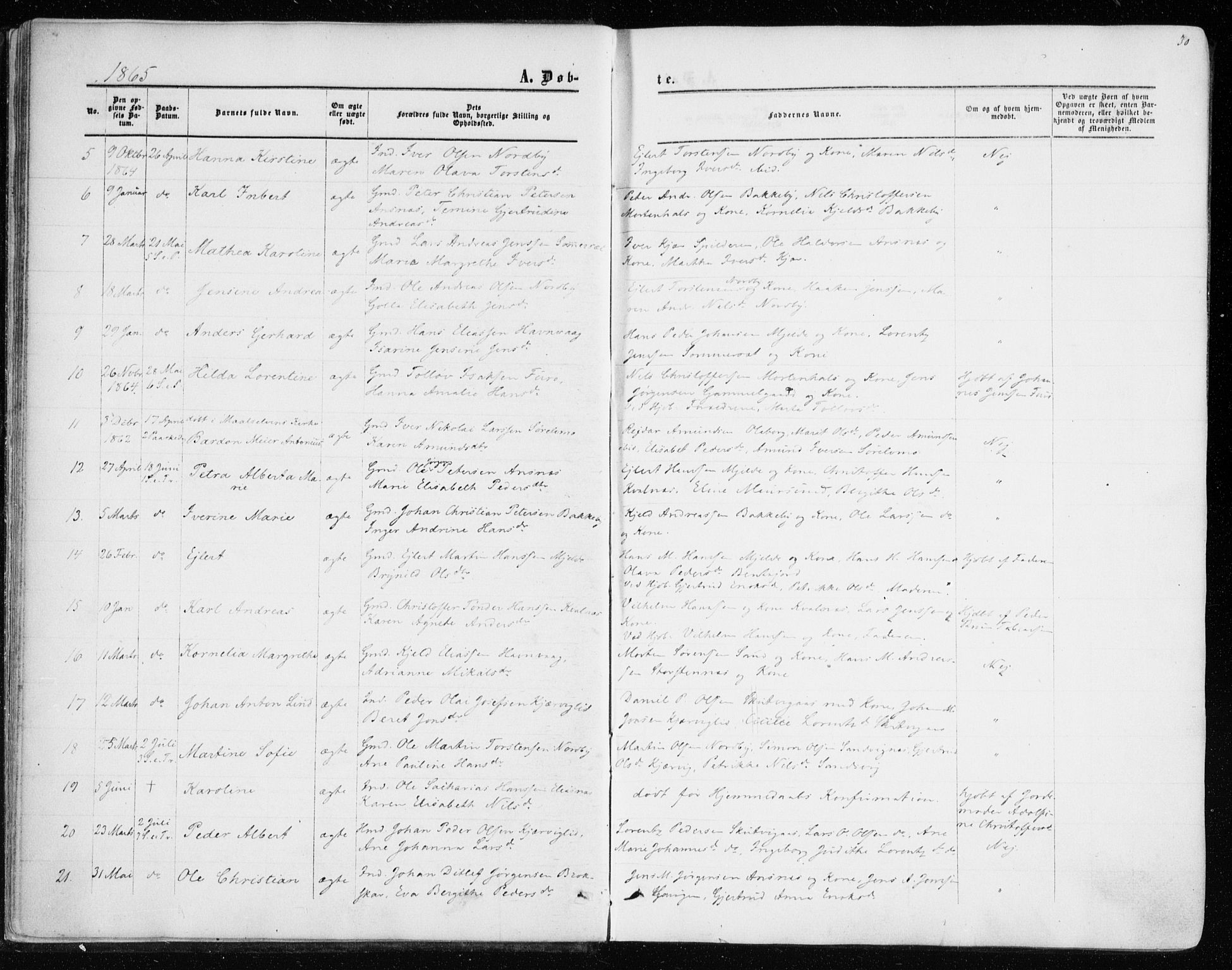 SATØ, Balsfjord sokneprestembete, Ministerialbok nr. 1, 1858-1870, s. 30