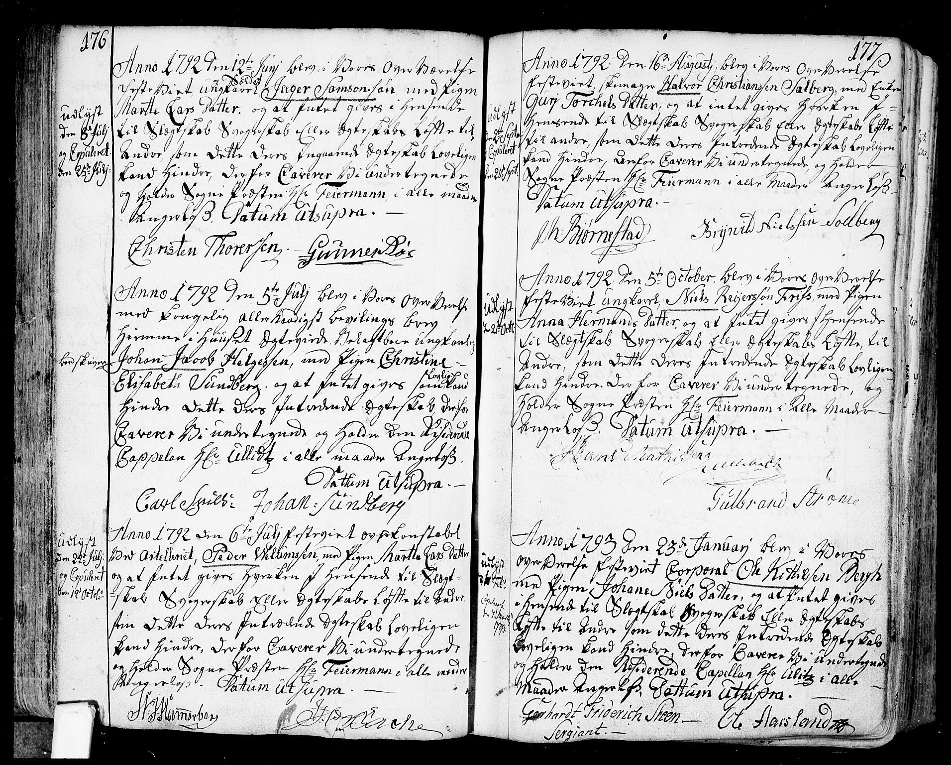 SAO, Fredrikstad prestekontor Kirkebøker, F/Fa/L0002: Ministerialbok nr. 2, 1750-1804, s. 176-177
