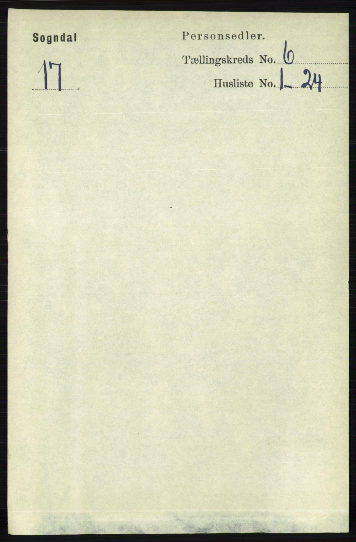 RA, Folketelling 1891 for 1111 Sokndal herred, 1891, s. 1641