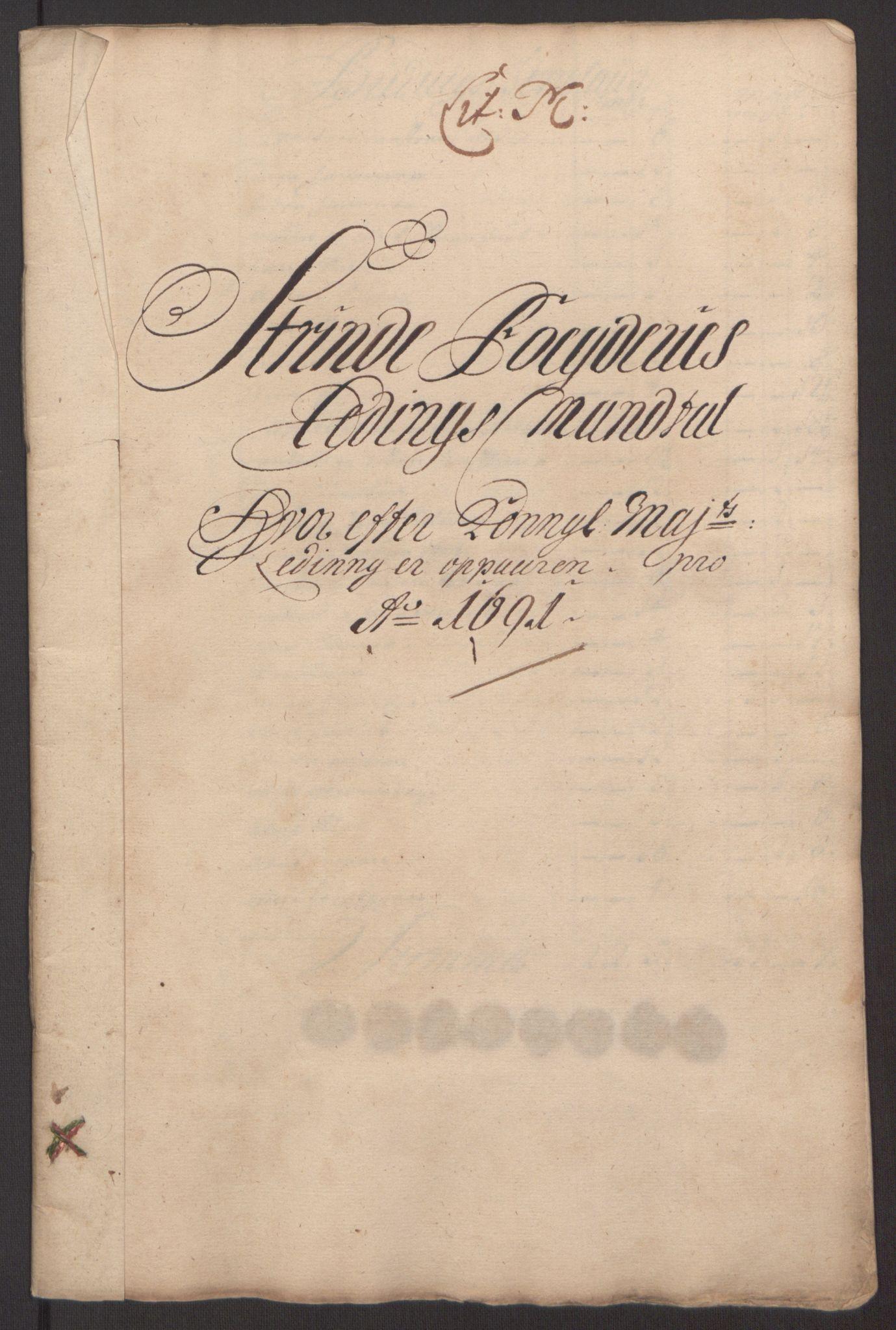 RA, Rentekammeret inntil 1814, Reviderte regnskaper, Fogderegnskap, R61/L4103: Fogderegnskap Strinda og Selbu, 1691-1692, s. 120
