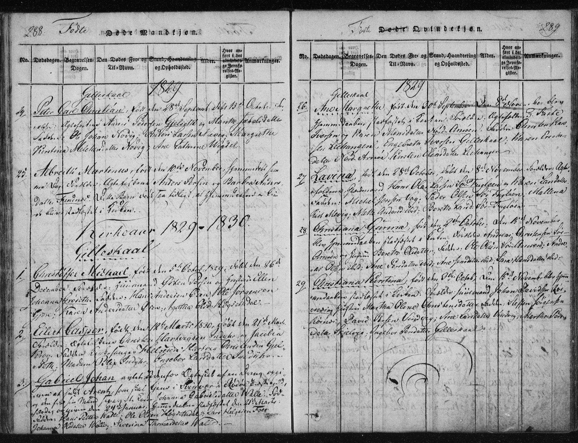 SAT, Ministerialprotokoller, klokkerbøker og fødselsregistre - Nordland, 805/L0096: Ministerialbok nr. 805A03, 1820-1837, s. 288-289