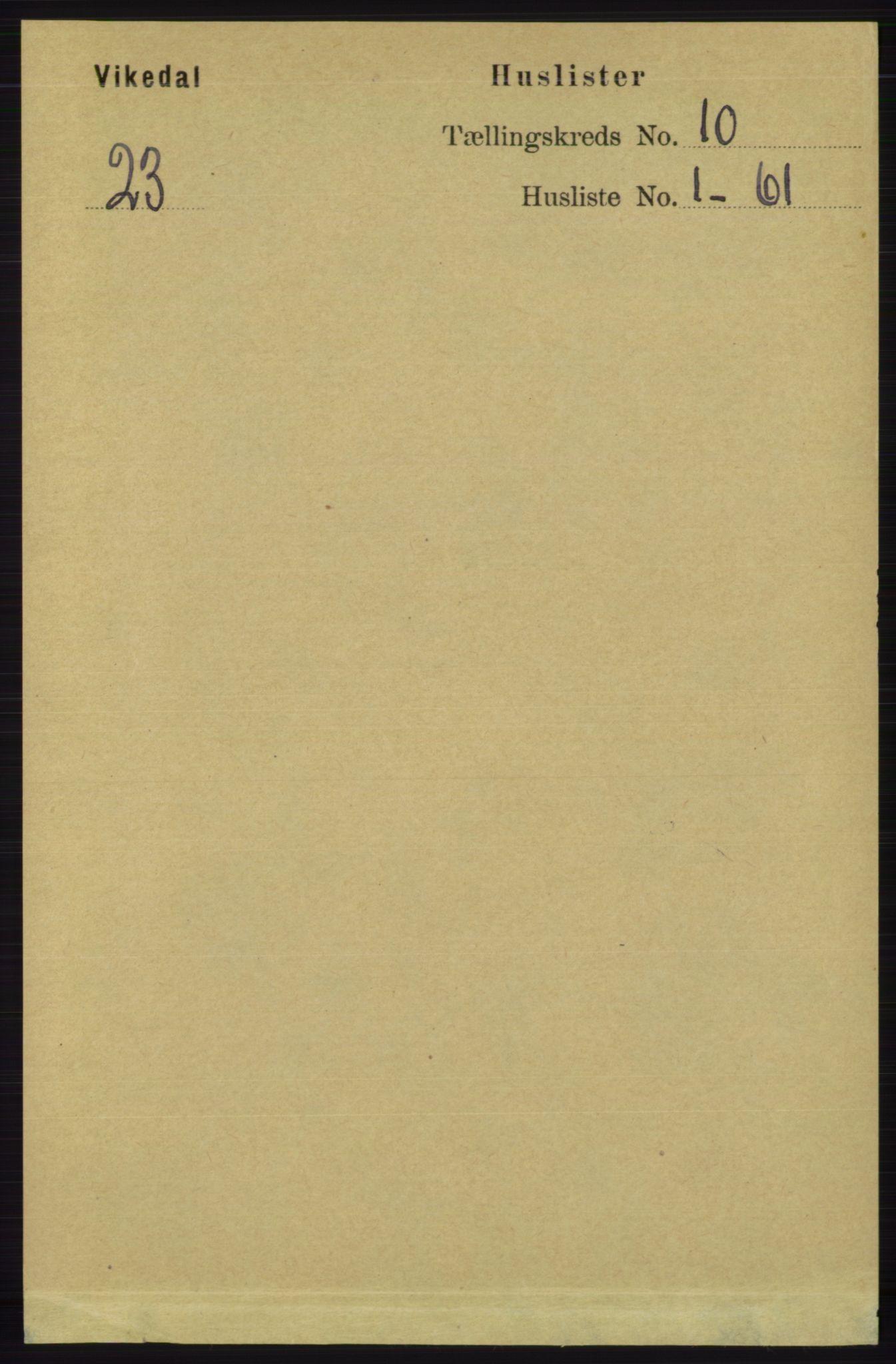 RA, Folketelling 1891 for 1157 Vikedal herred, 1891, s. 2463
