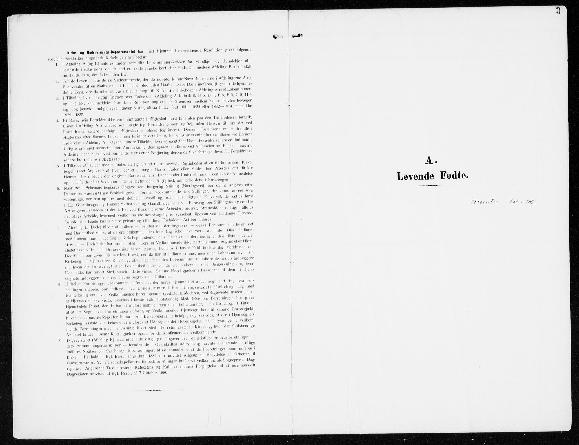SAH, Furnes sokneprestkontor, K/Ka/L0001: Ministerialbok nr. 1, 1907-1935, s. 3