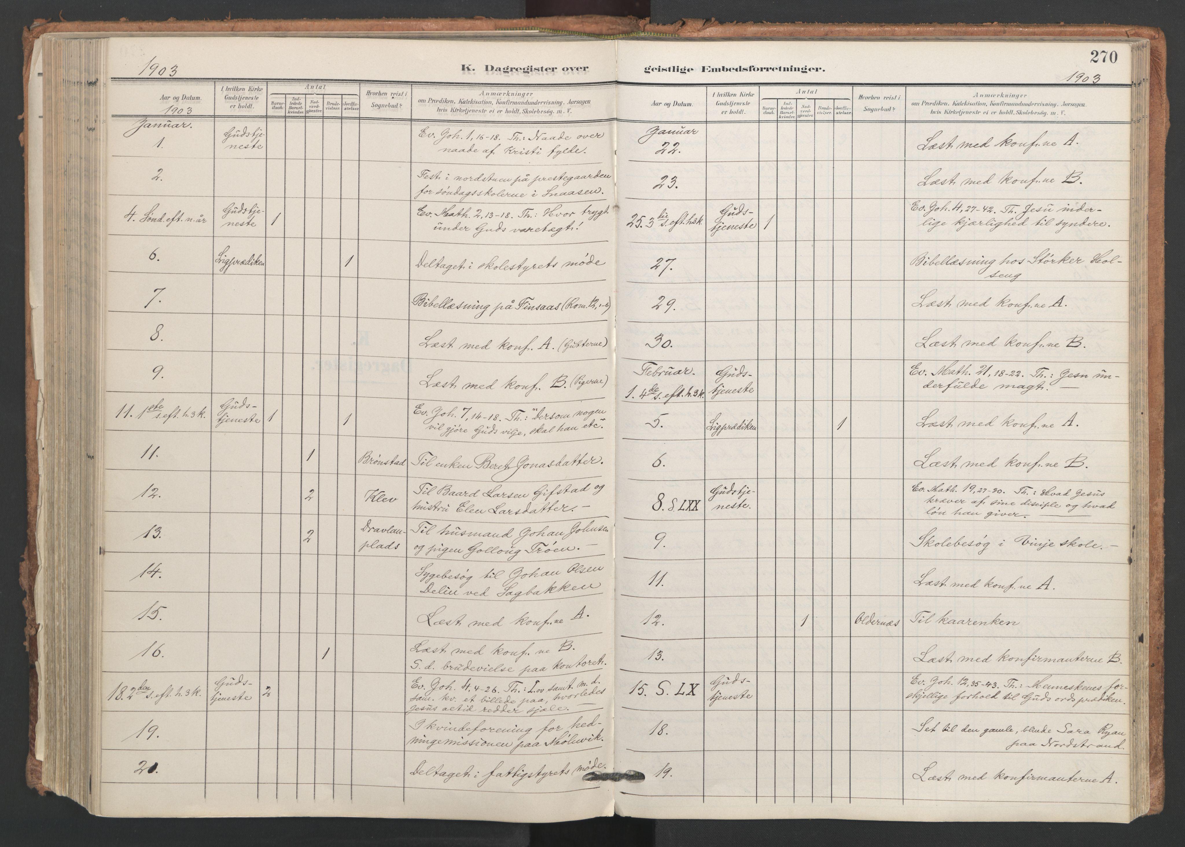 SAT, Ministerialprotokoller, klokkerbøker og fødselsregistre - Nord-Trøndelag, 749/L0477: Ministerialbok nr. 749A11, 1902-1927, s. 270