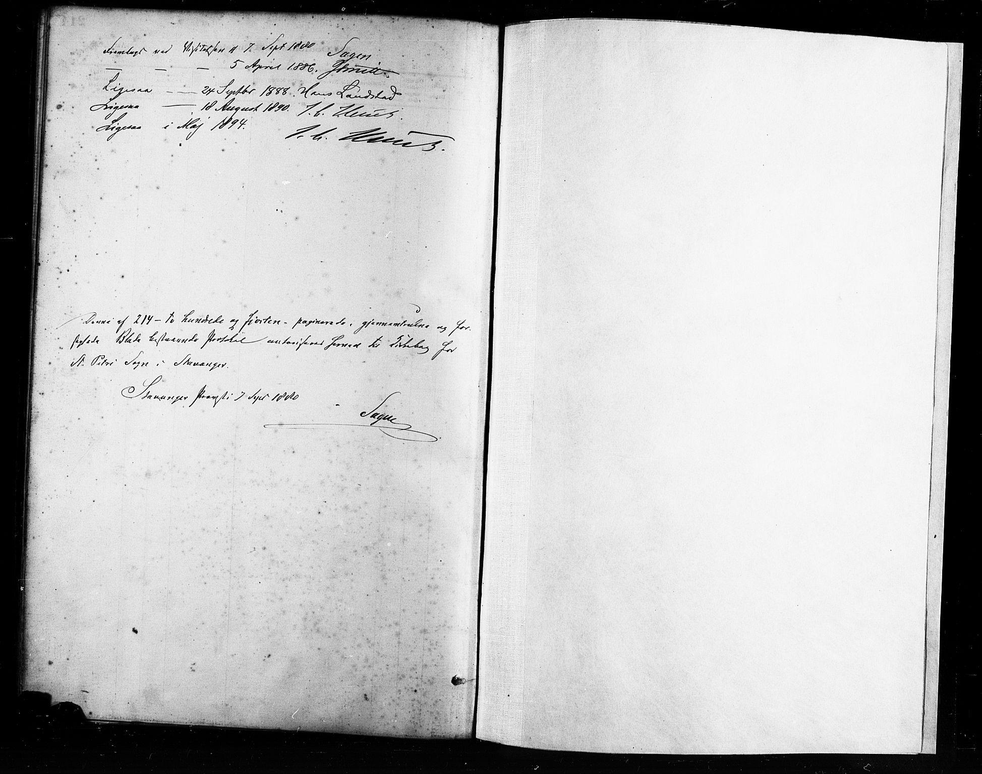 SAST, St. Petri sokneprestkontor, 30/30BA/L0017: Ministerialbok nr. A 17, 1879-1895