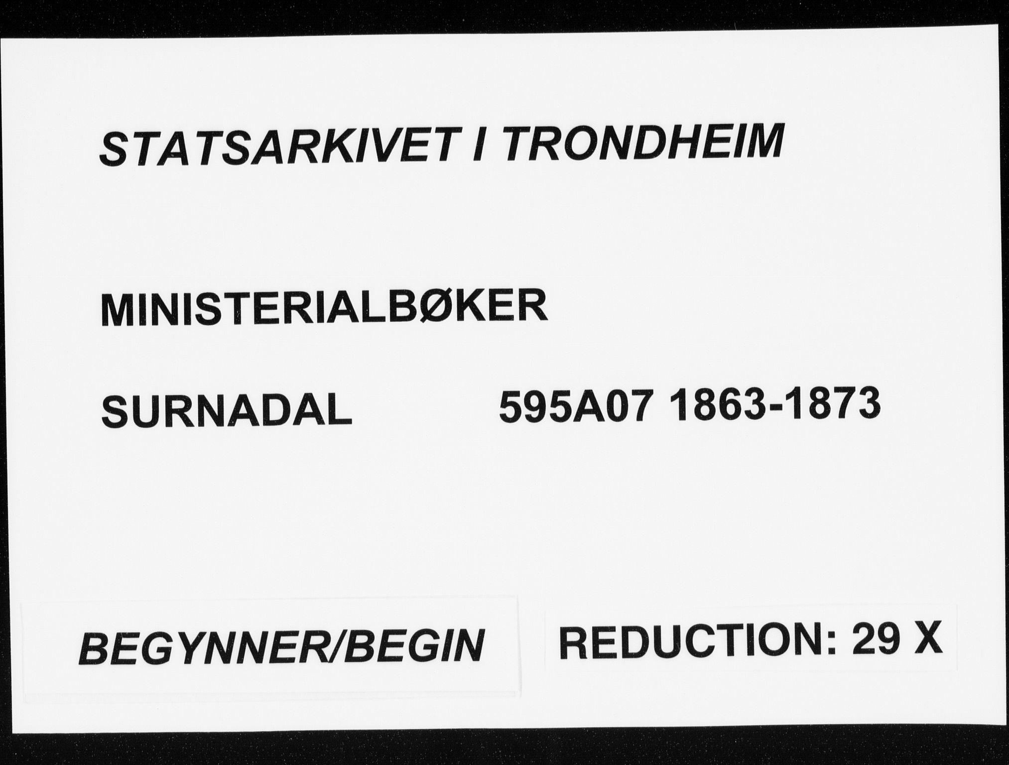 SAT, Ministerialprotokoller, klokkerbøker og fødselsregistre - Møre og Romsdal, 595/L1045: Ministerialbok nr. 595A07, 1863-1873