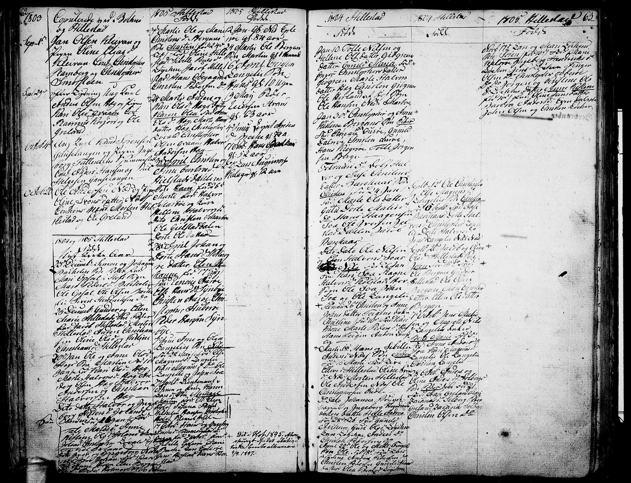 SAKO, Botne kirkebøker, F/Fa/L0003: Ministerialbok nr. I 3 /1, 1792-1844, s. 62-63
