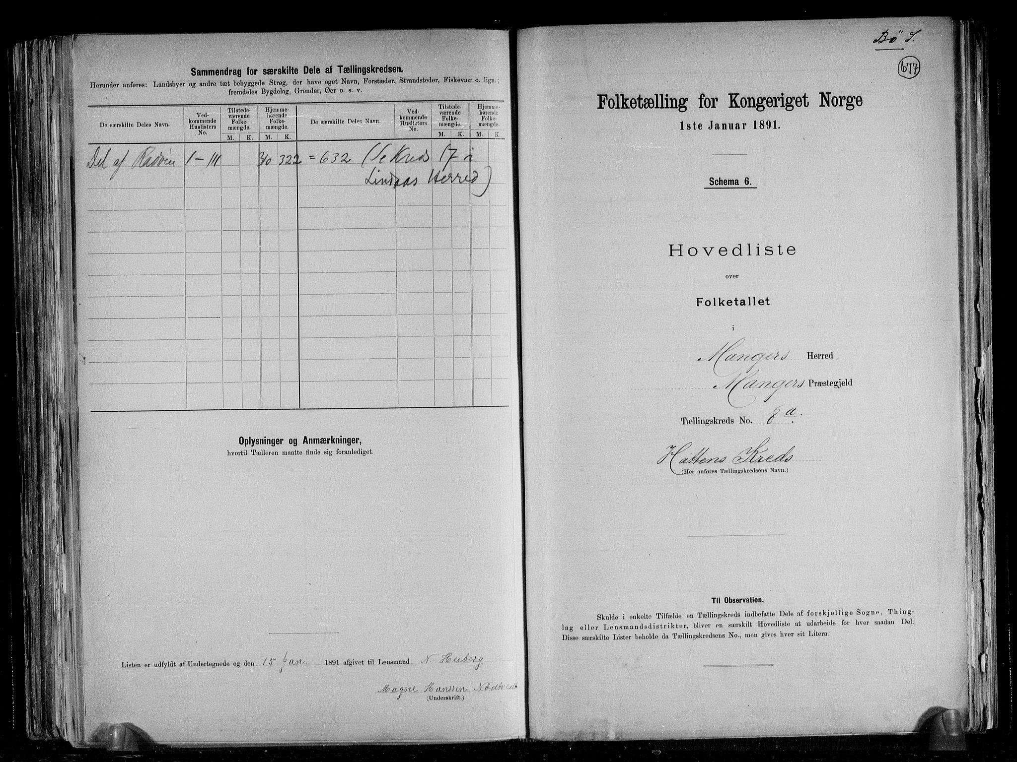 RA, Folketelling 1891 for 1261 Manger herred, 1891, s. 28
