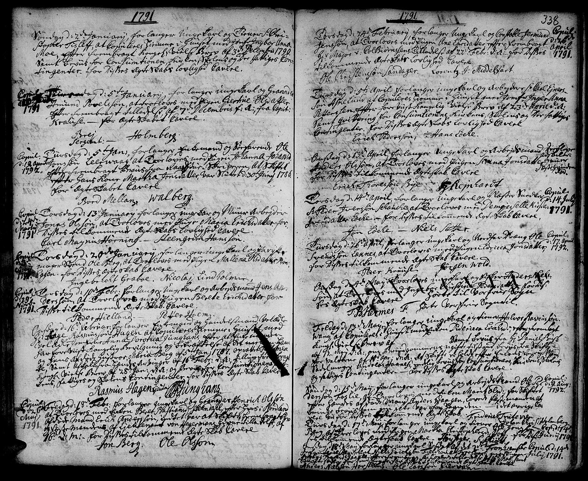 SAT, Ministerialprotokoller, klokkerbøker og fødselsregistre - Sør-Trøndelag, 601/L0038: Ministerialbok nr. 601A06, 1766-1877, s. 338