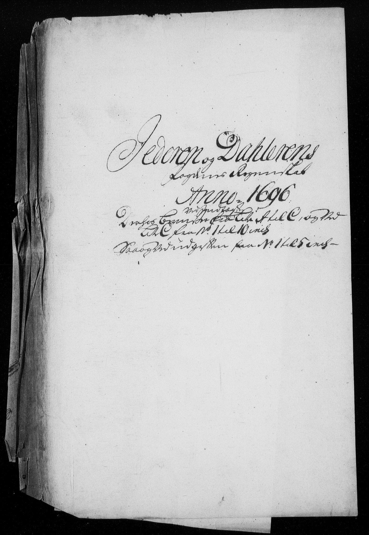 RA, Rentekammeret inntil 1814, Reviderte regnskaper, Fogderegnskap, R46/L2728: Fogderegnskap Jæren og Dalane, 1694-1696, s. 389